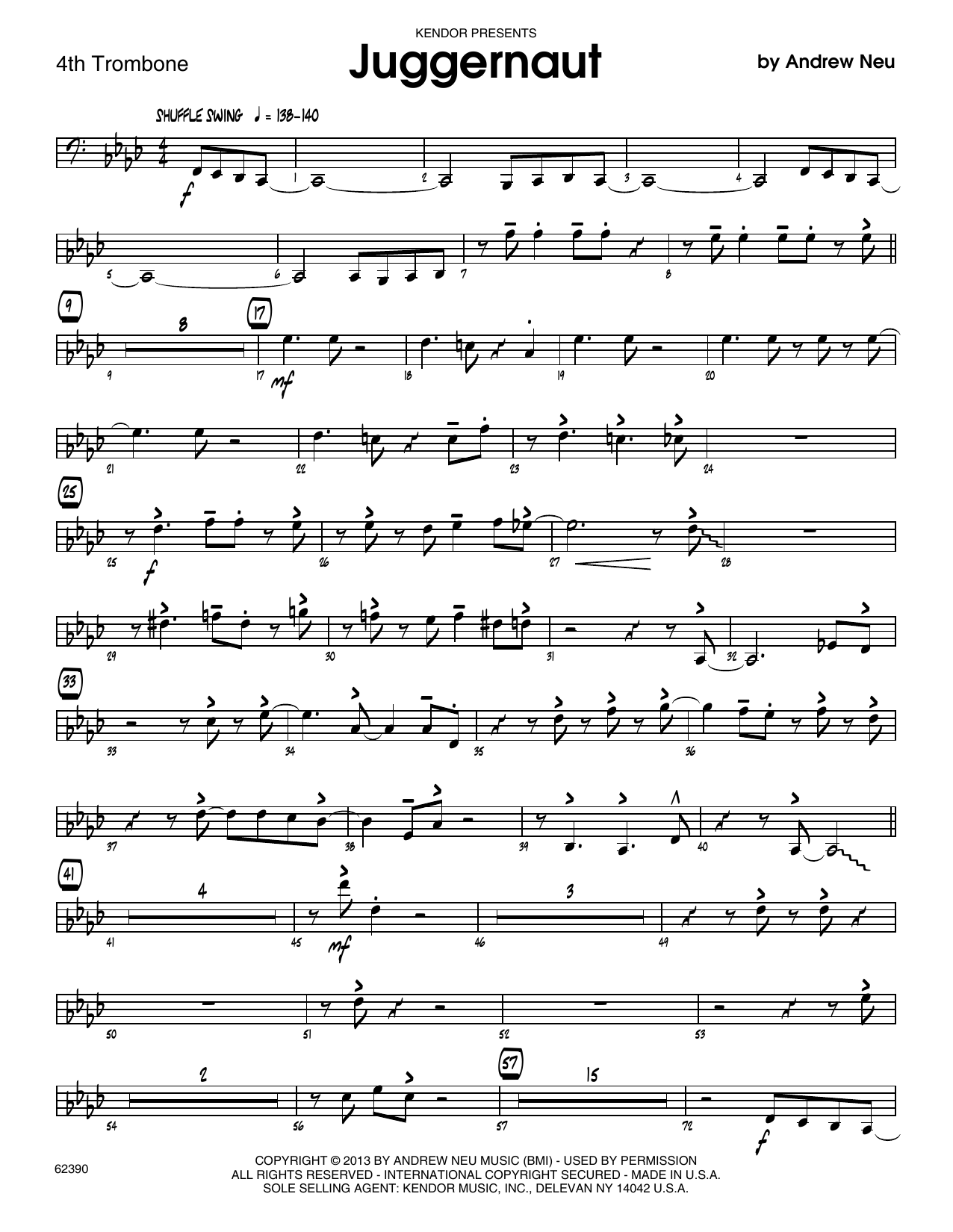 Juggernaut - 4th Trombone Sheet Music