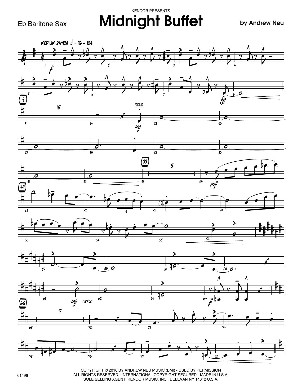 Midnight Buffet - Eb Baritone Saxophone Sheet Music
