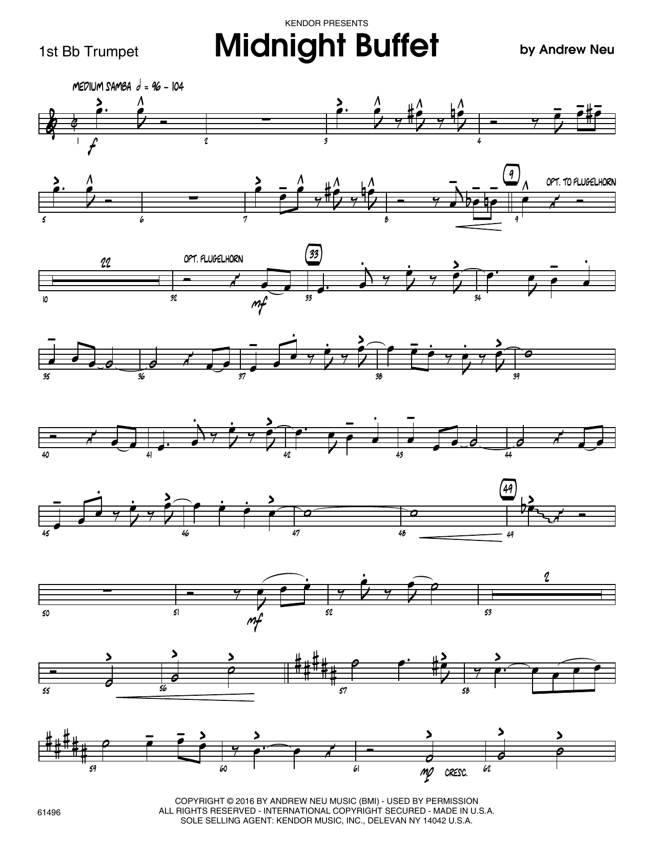 Midnight Buffet - 1st Bb Trumpet Sheet Music