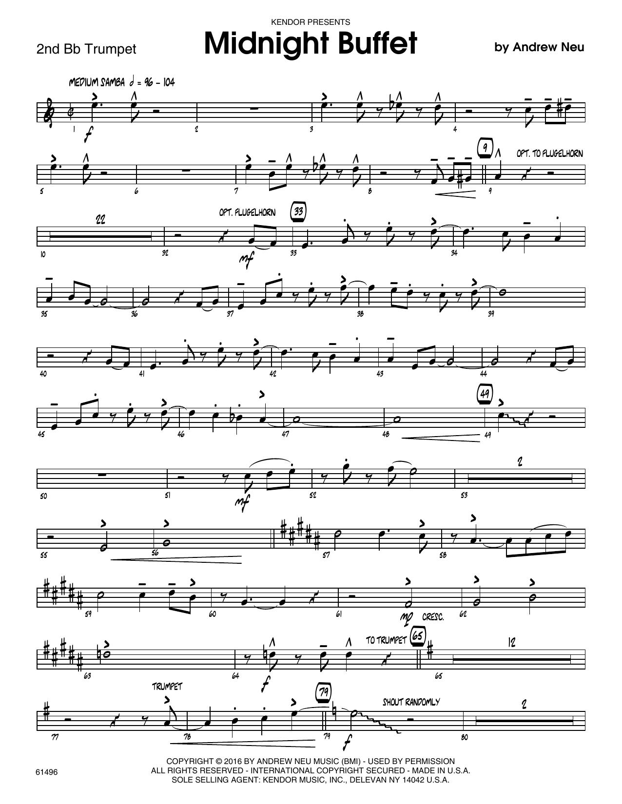 Midnight Buffet - 2nd Bb Trumpet Sheet Music