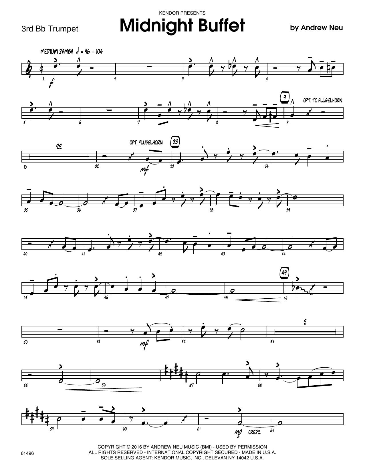 Midnight Buffet - 3rd Bb Trumpet Sheet Music