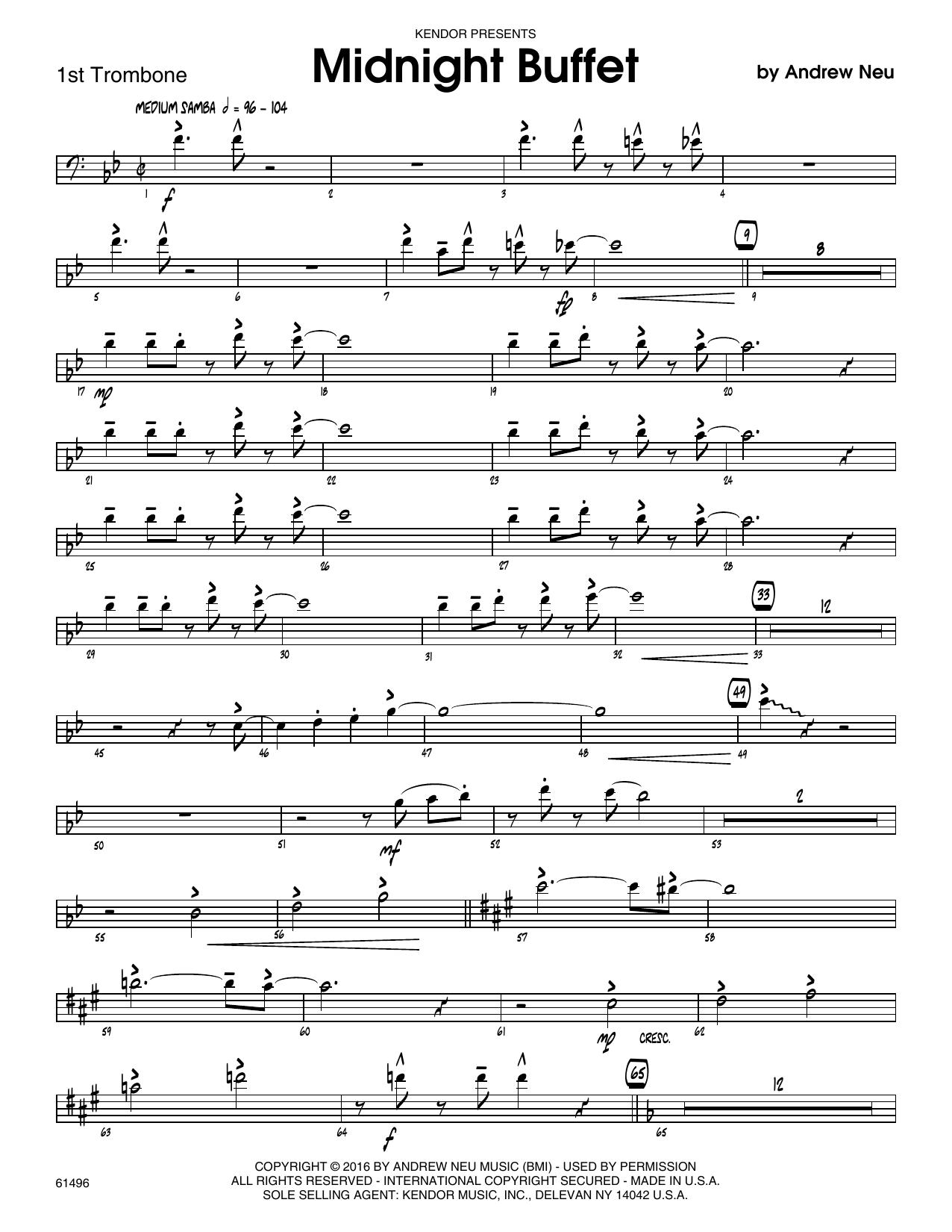 Midnight Buffet - 1st Trombone Sheet Music