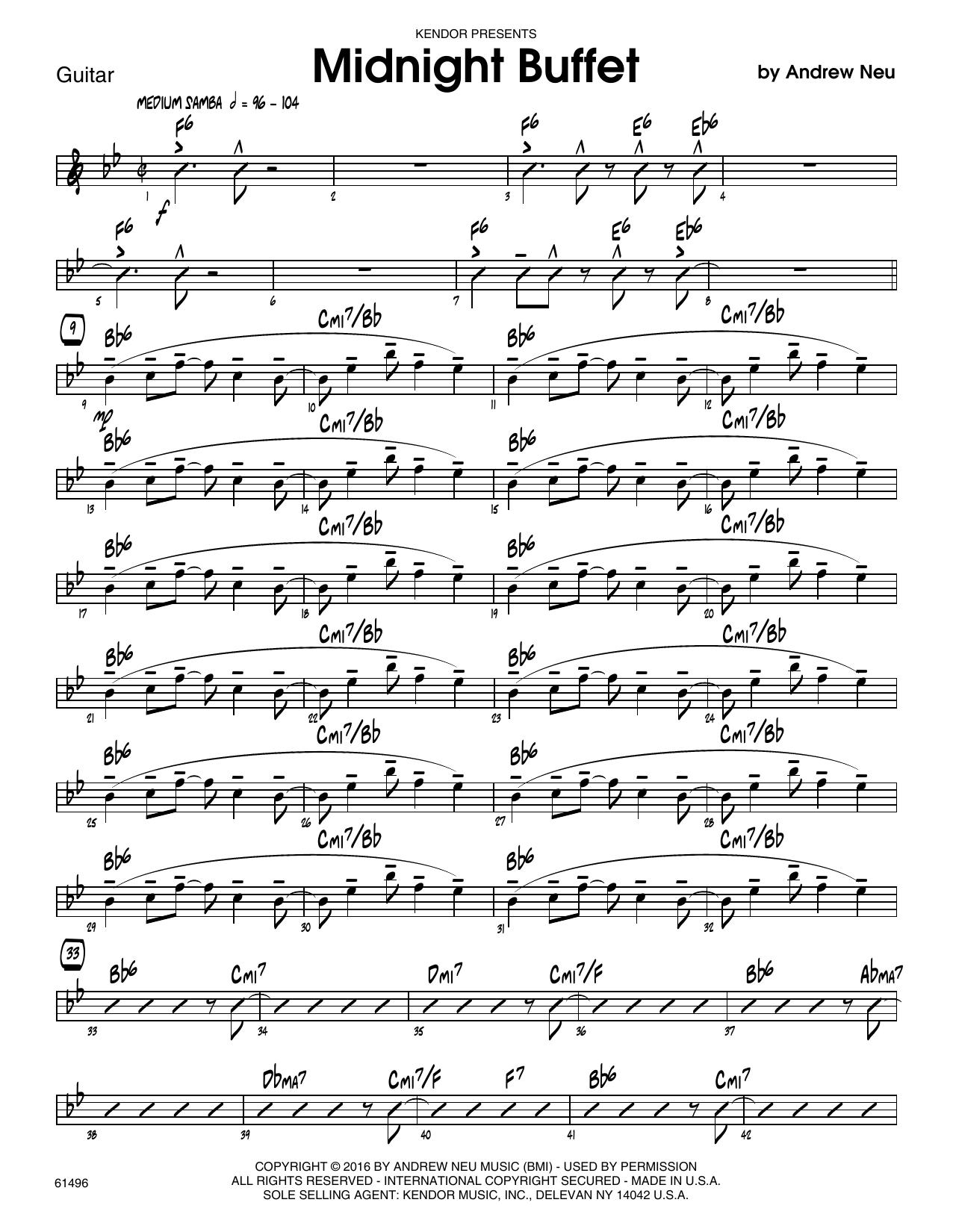 Midnight Buffet - Guitar Sheet Music