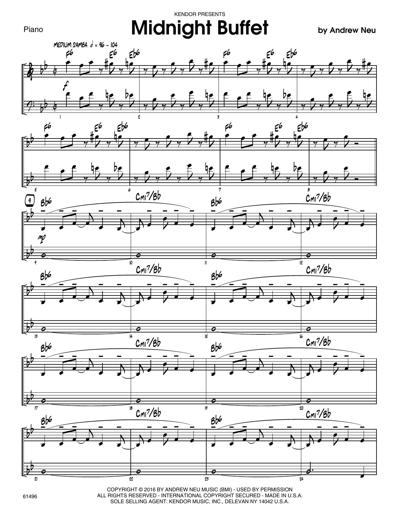 Midnight Buffet - Piano Sheet Music