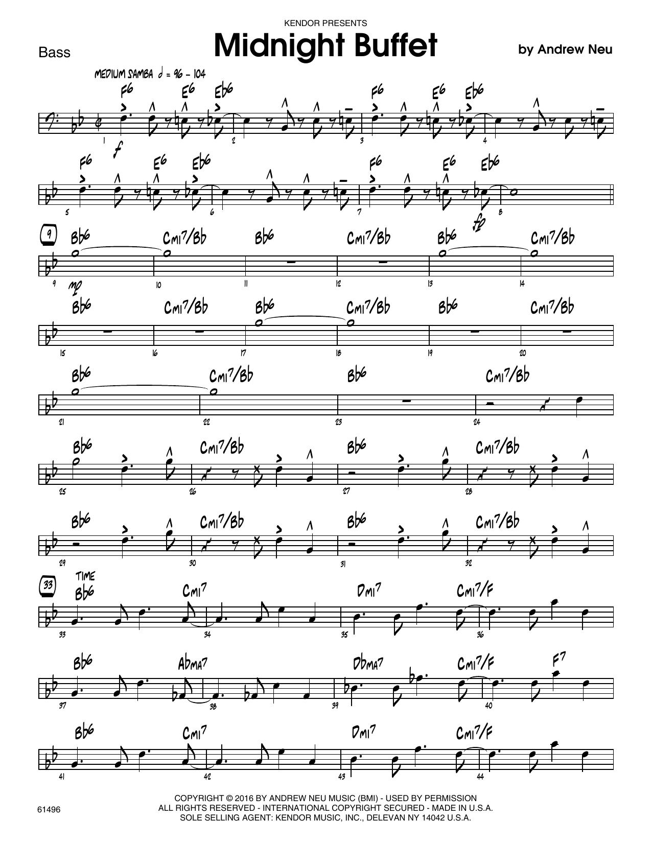 Midnight Buffet - Bass Sheet Music