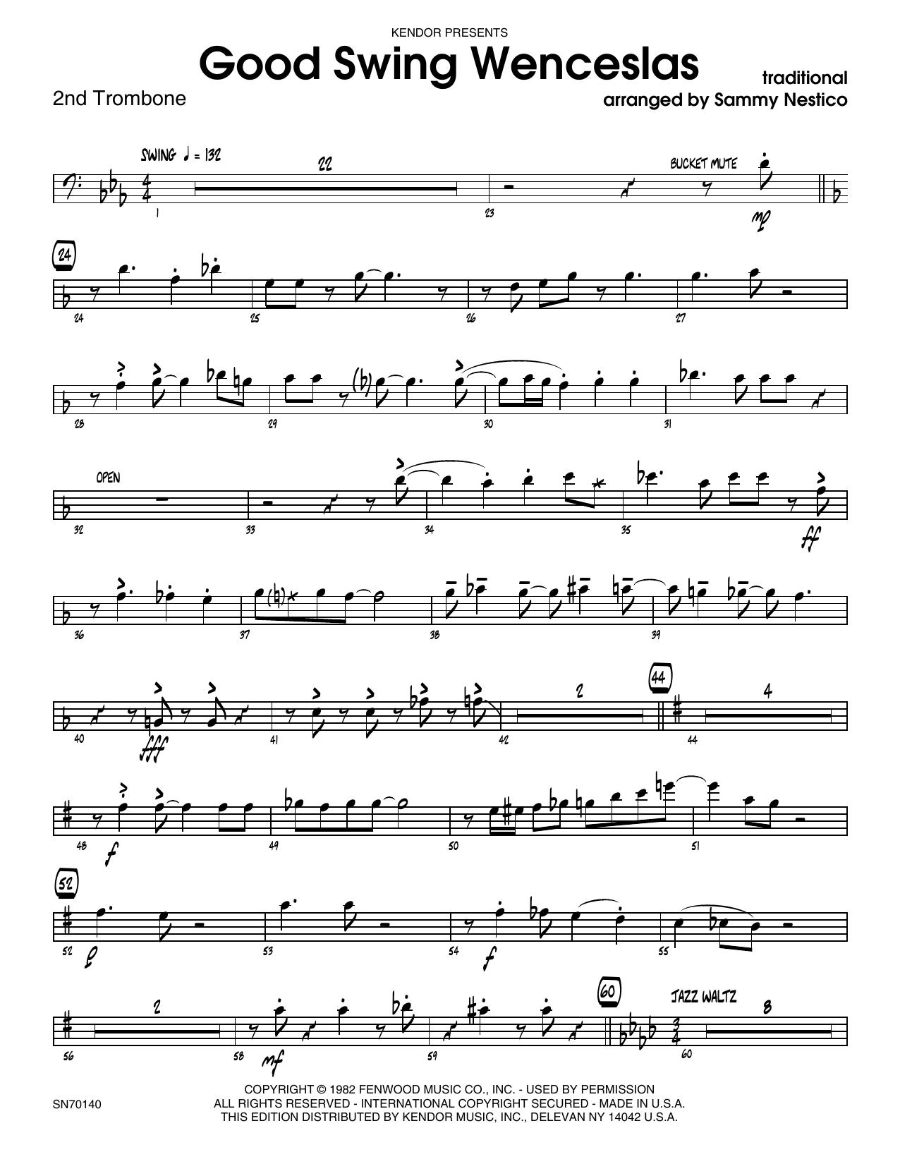 Good Swing Wenceslas - 2nd Trombone Sheet Music