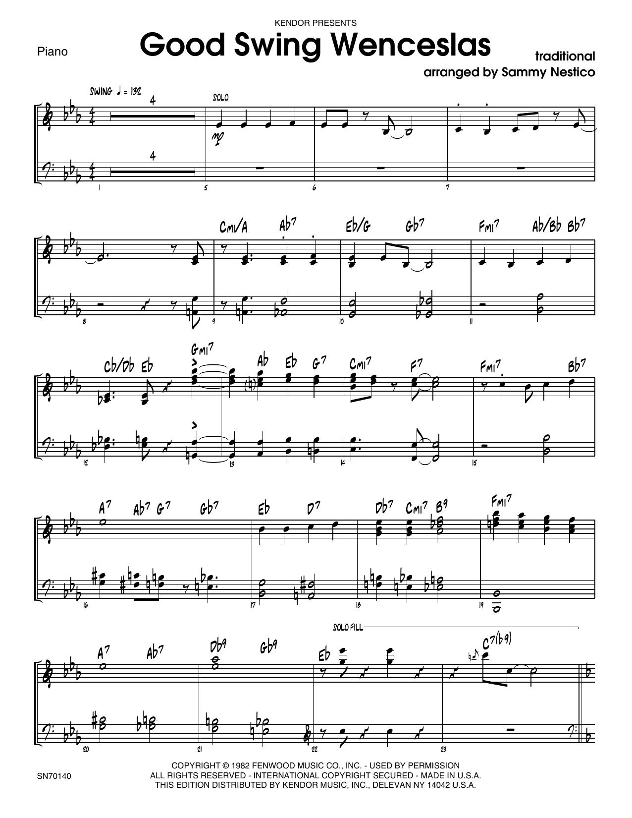 Good Swing Wenceslas - Piano Sheet Music