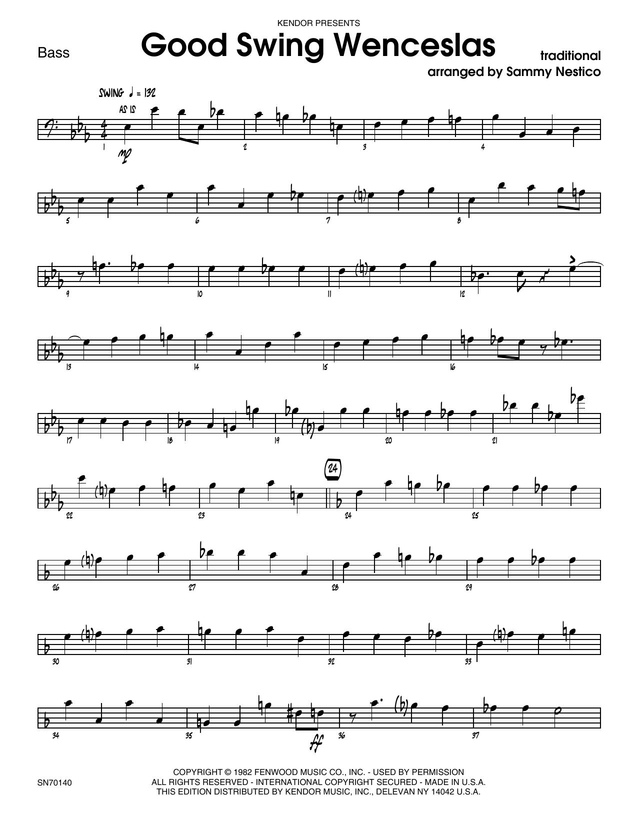 Good Swing Wenceslas - Bass Sheet Music