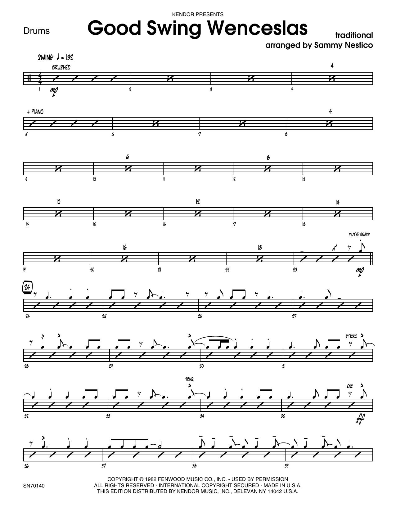 Good Swing Wenceslas - Drum Set Sheet Music