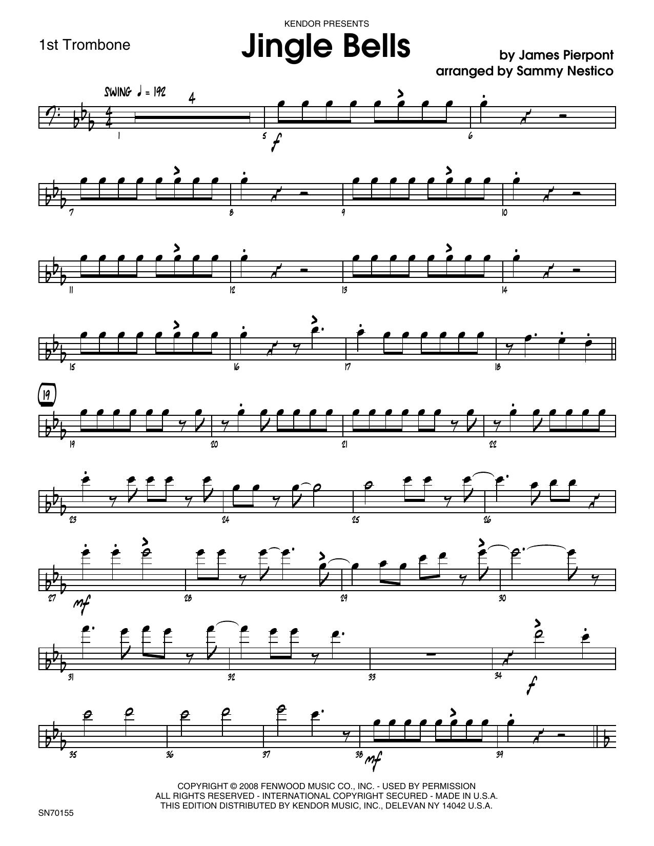 Jingle Bells - 1st Trombone Sheet Music