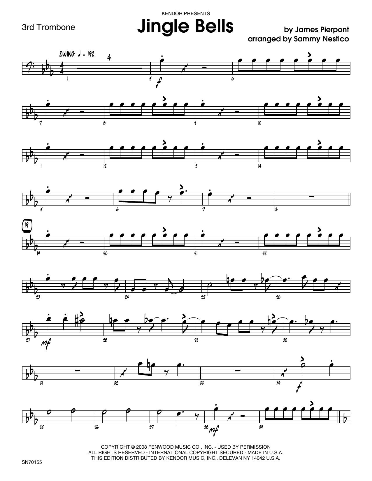 Jingle Bells - 3rd Trombone Sheet Music