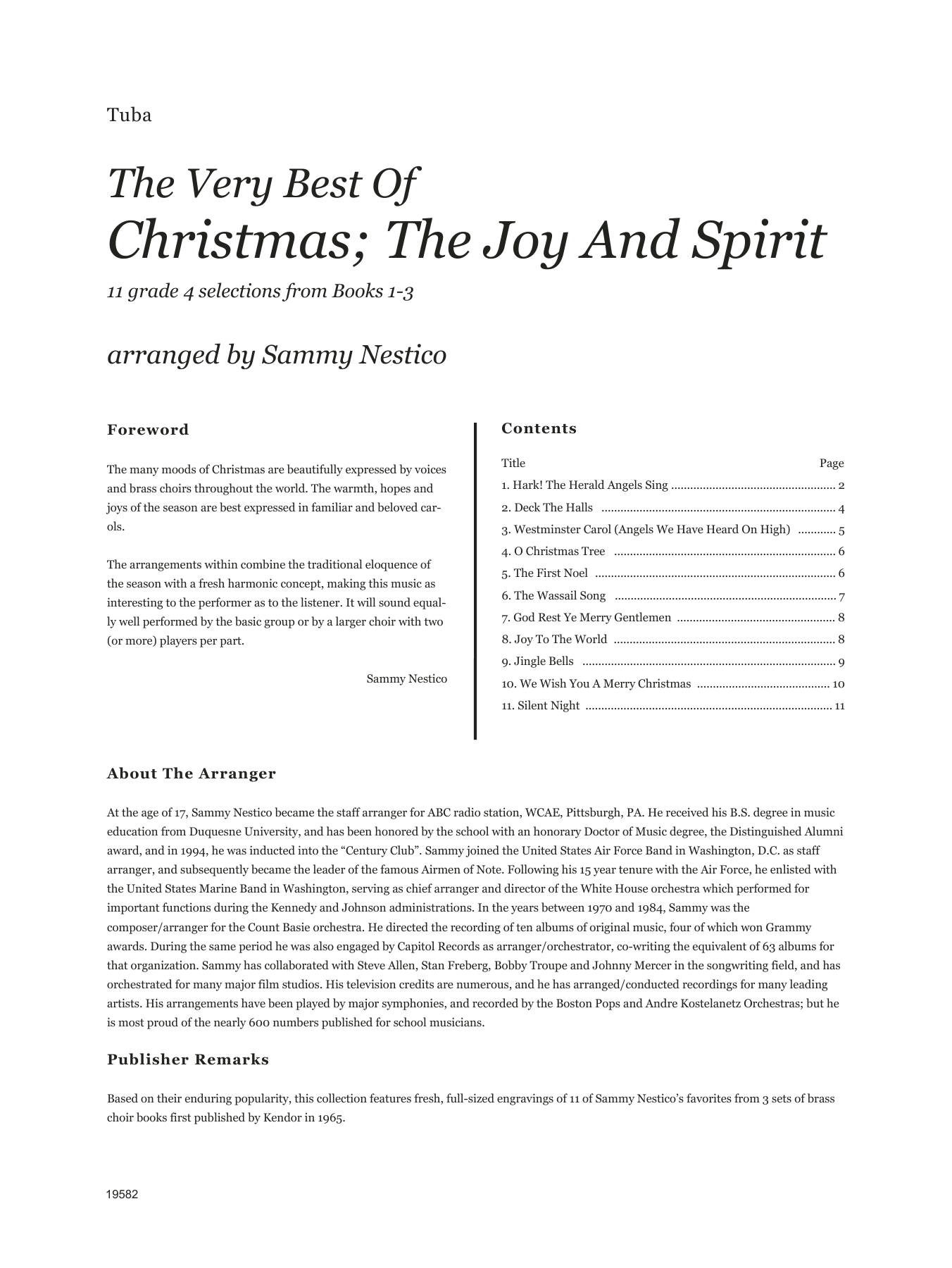 Very Best Of Christmas; The Joy And Spirit (Books 1-3) - Tuba Sheet Music