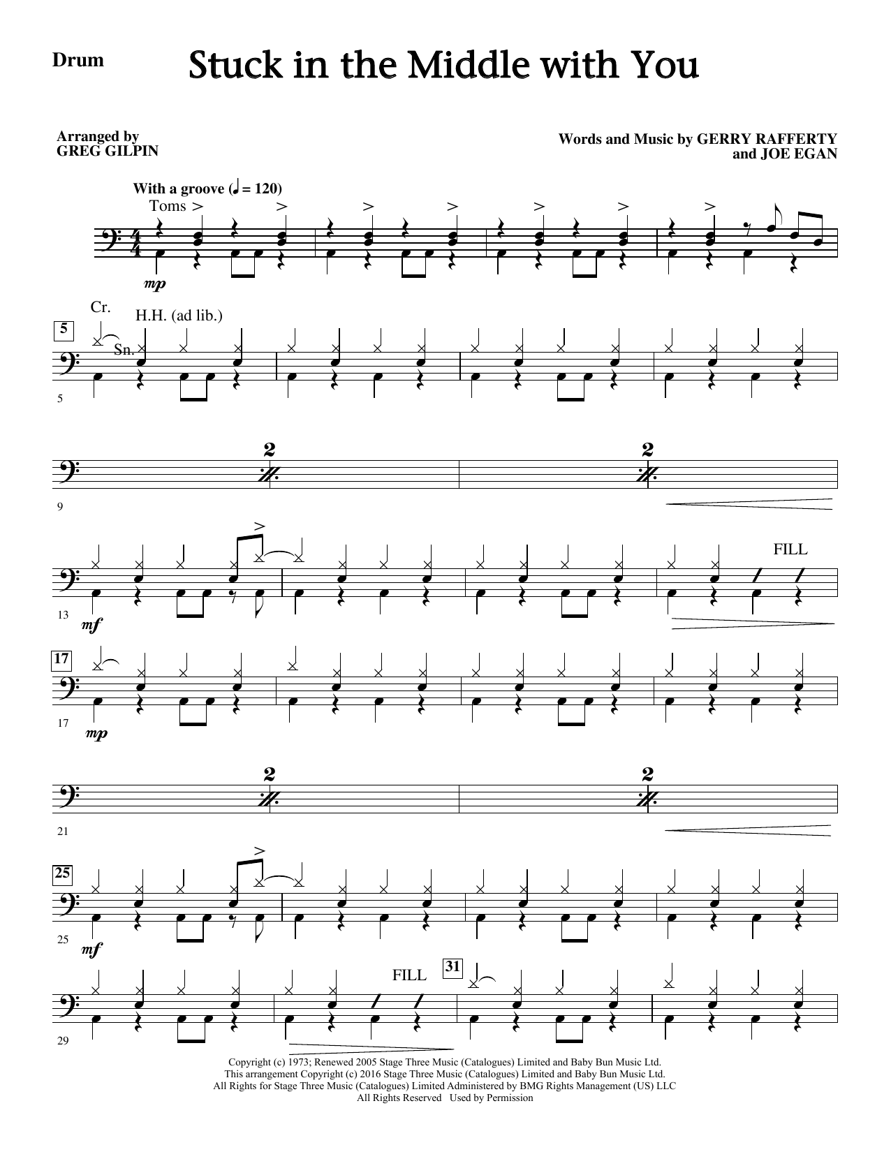Stuck In The Middle With You Drums Sheet Music Direct