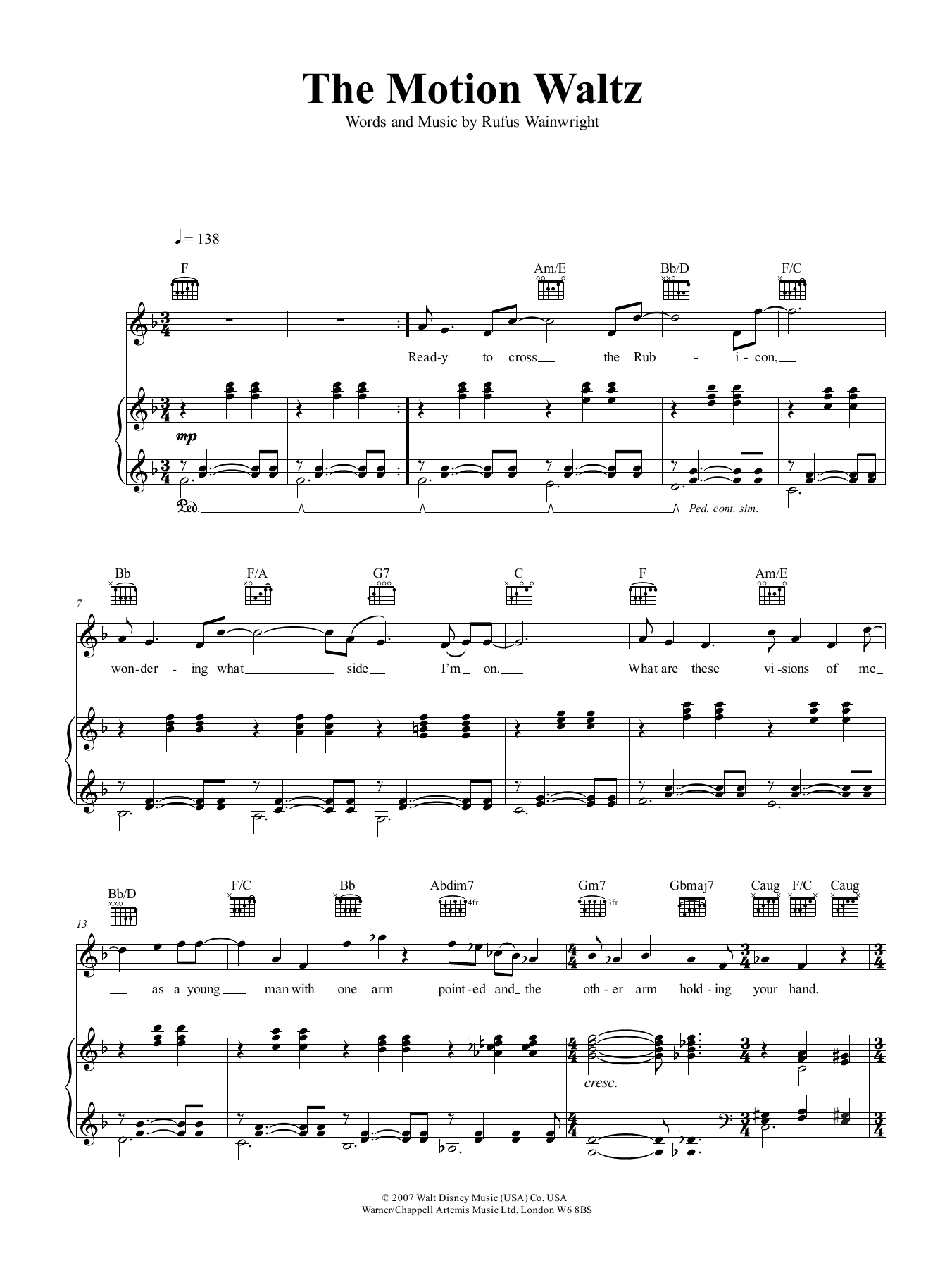 The Motion Waltz Sheet Music