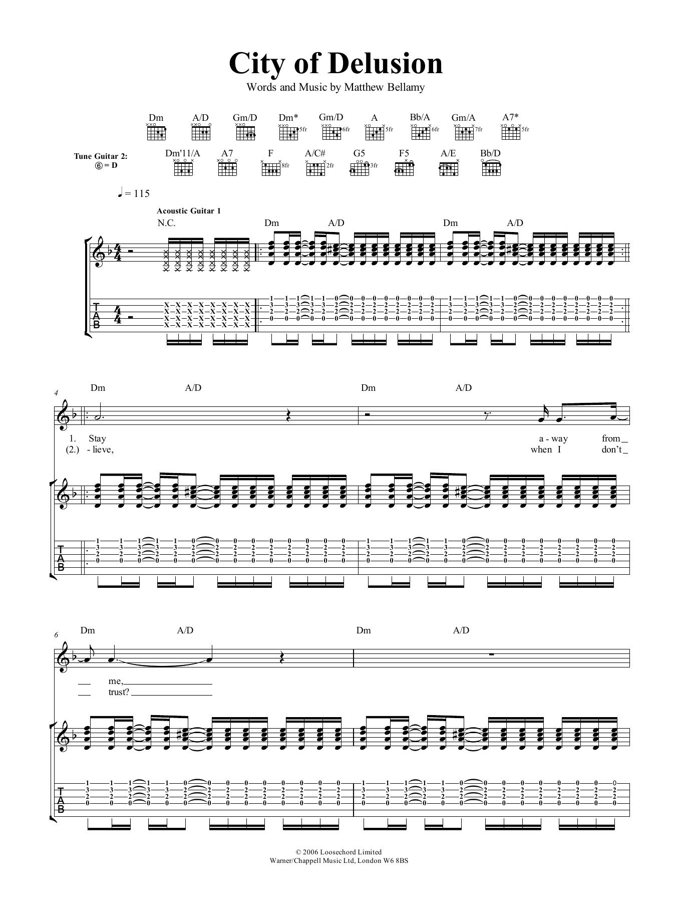 City Of Delusion (Guitar Tab)
