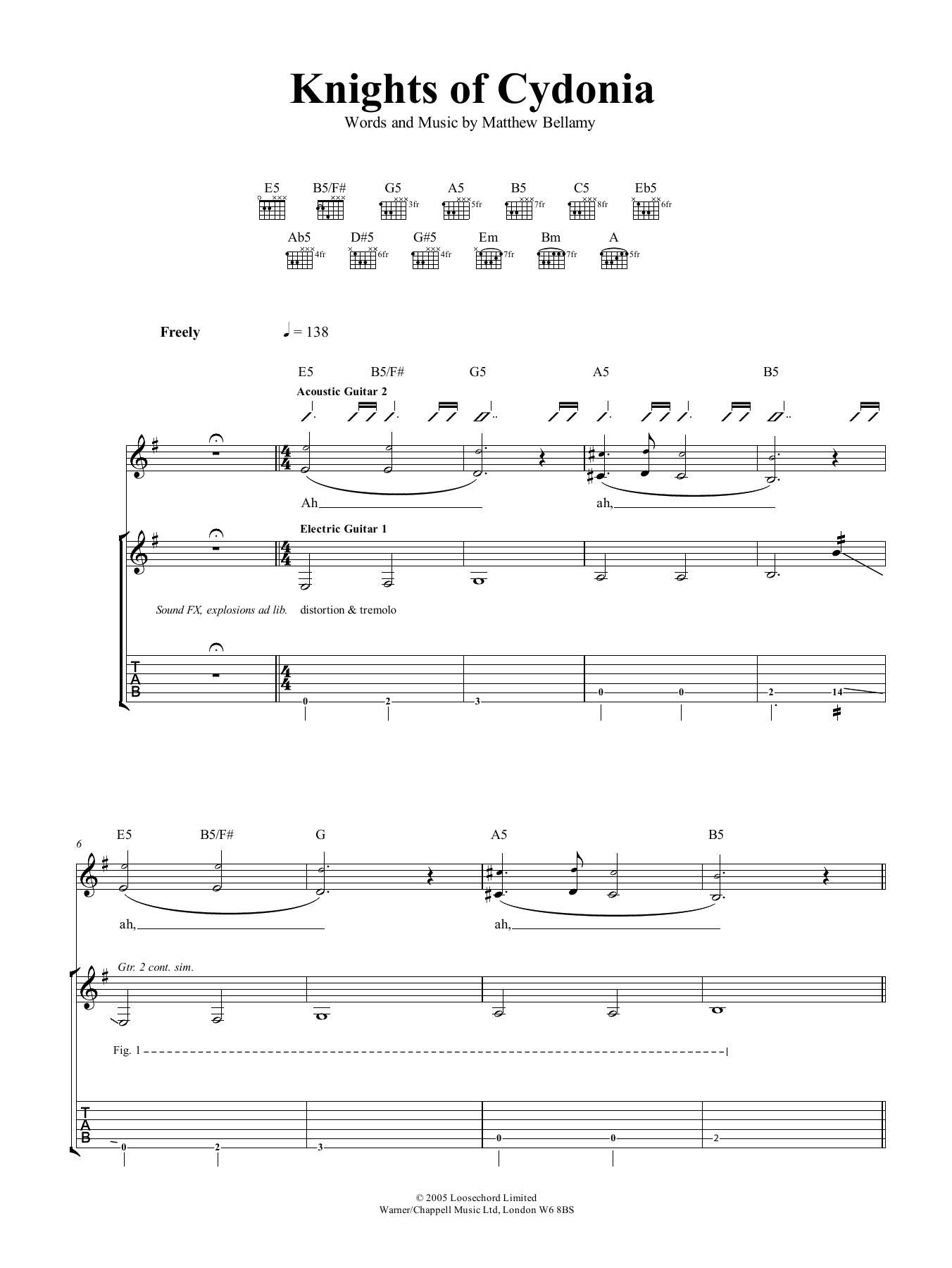 Knights Of Cydonia (Guitar Tab)
