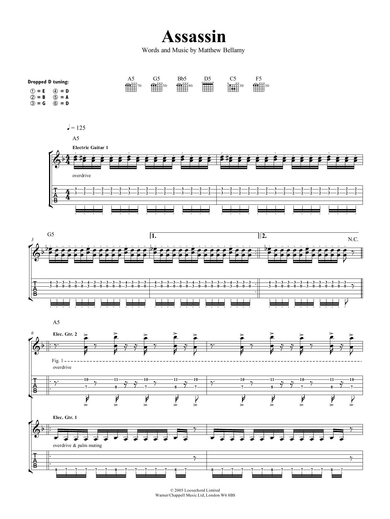 Assassin (Guitar Tab)