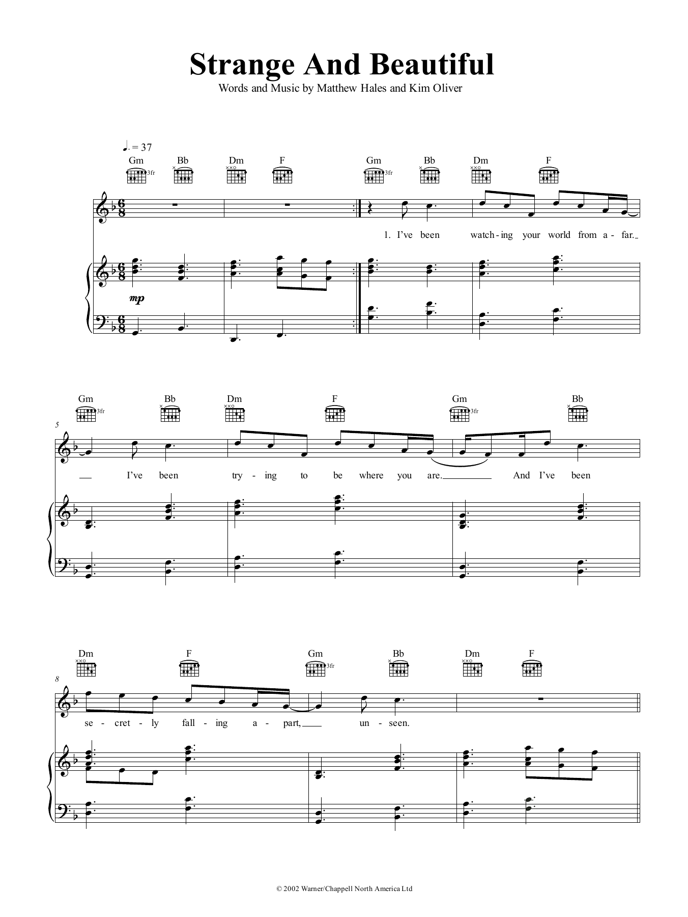 Strange And Beautiful (Piano, Vocal & Guitar (Right-Hand Melody))
