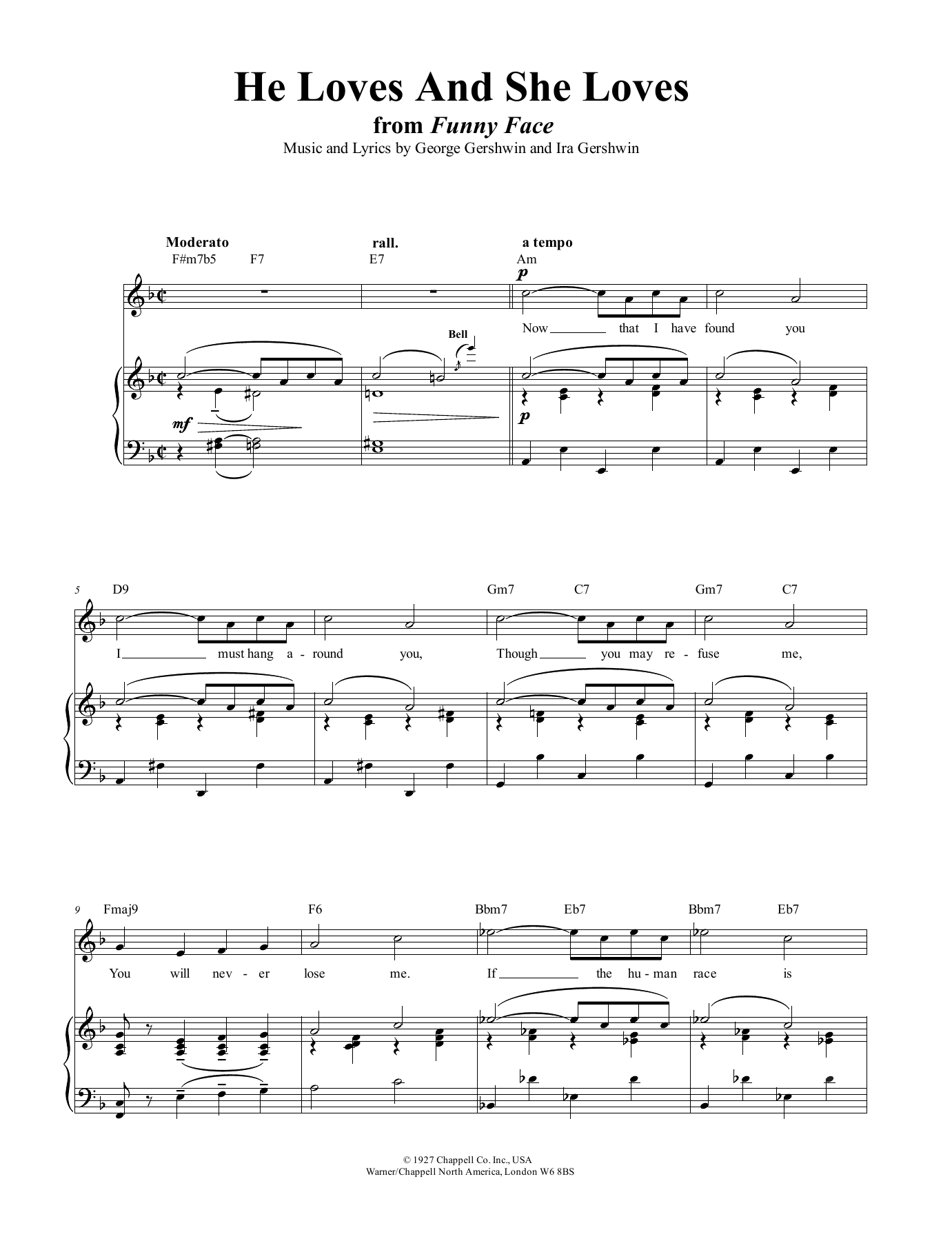 He Loves And She Loves (Piano, Vocal & Guitar (Right-Hand Melody))