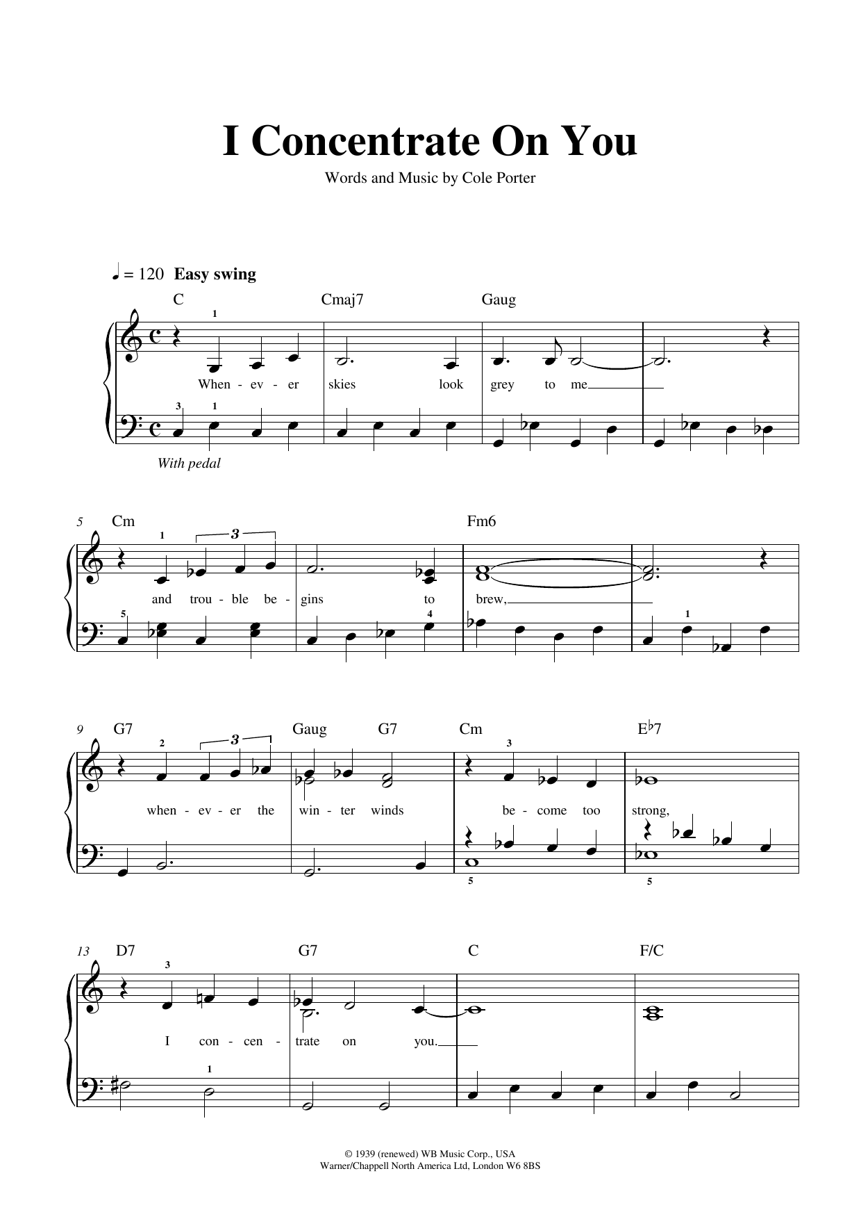 I Concentrate On You Sheet Music