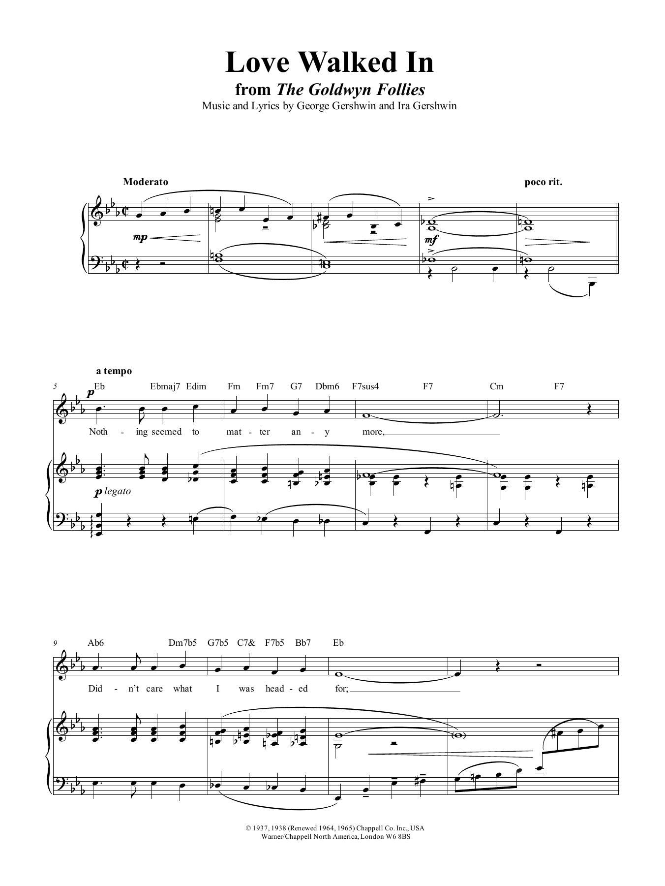 Love Walked In Sheet Music