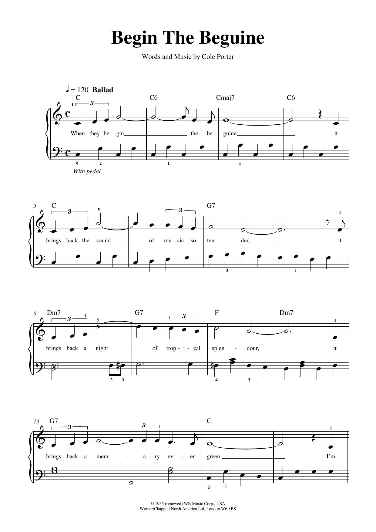 Begin The Beguine Sheet Music