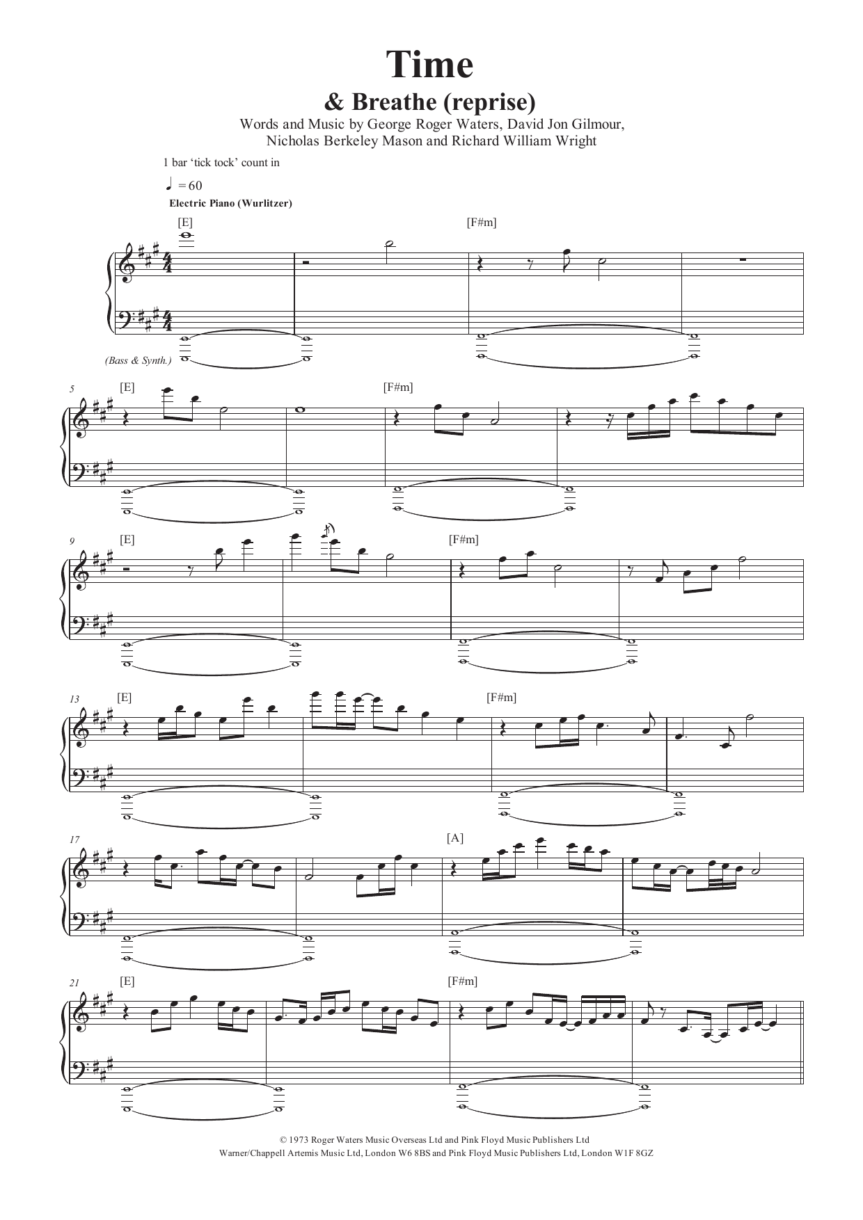 Time (Piano & Vocal)