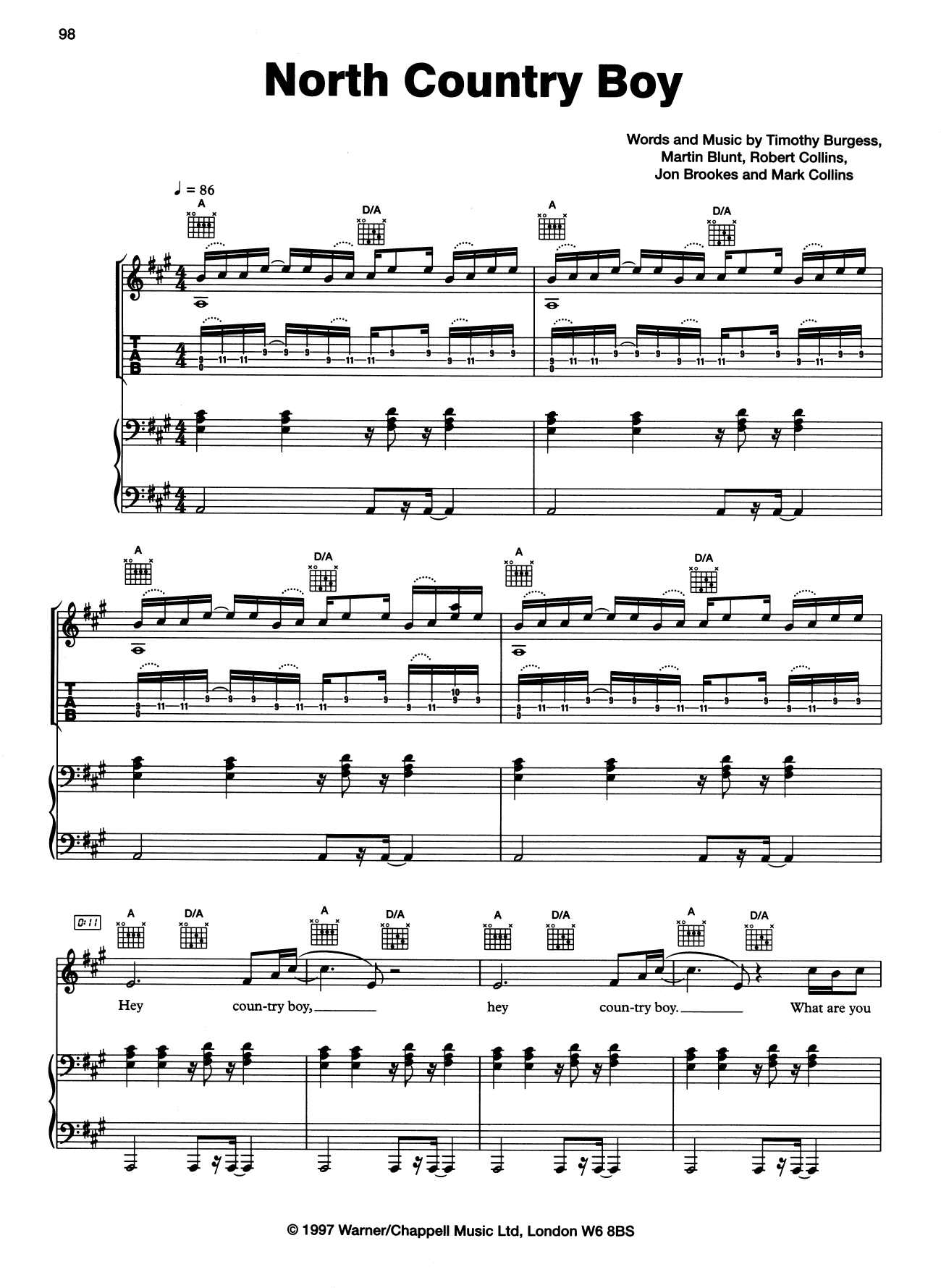 North Country Boy Sheet Music
