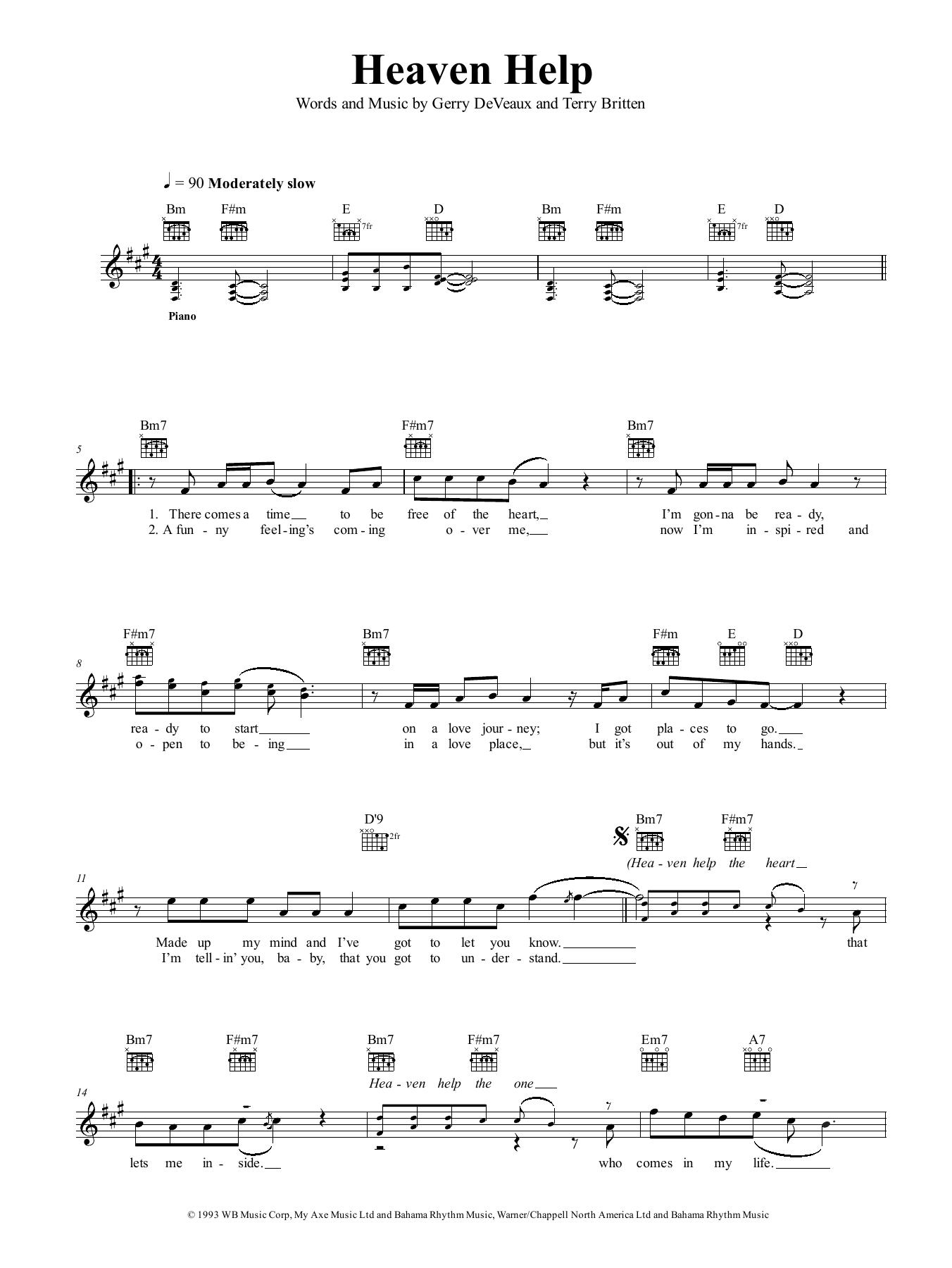 Heaven Help Sheet Music