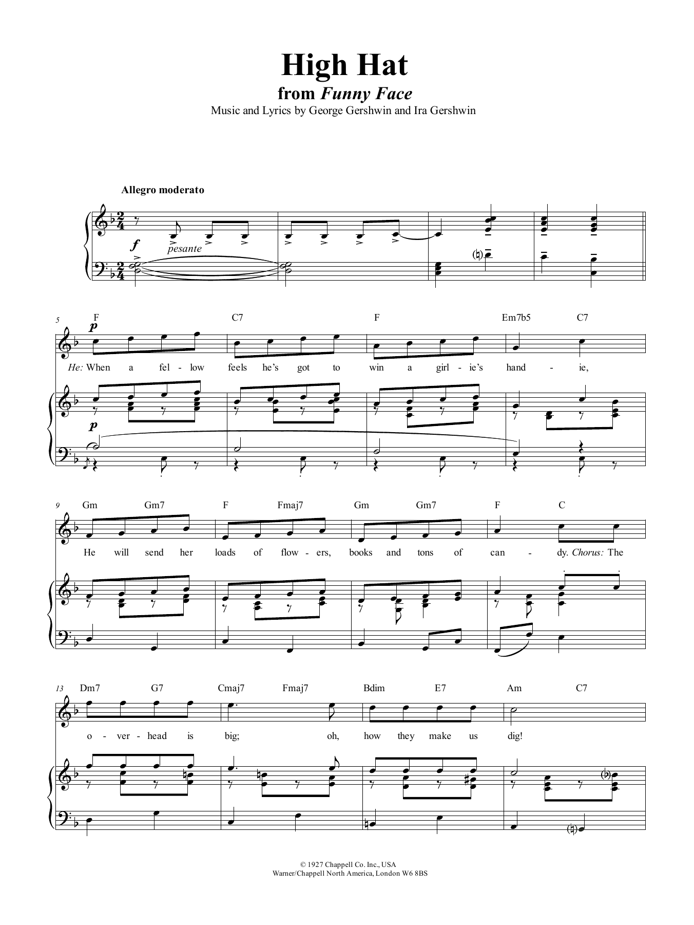 High Hat (Piano, Vocal & Guitar (Right-Hand Melody))