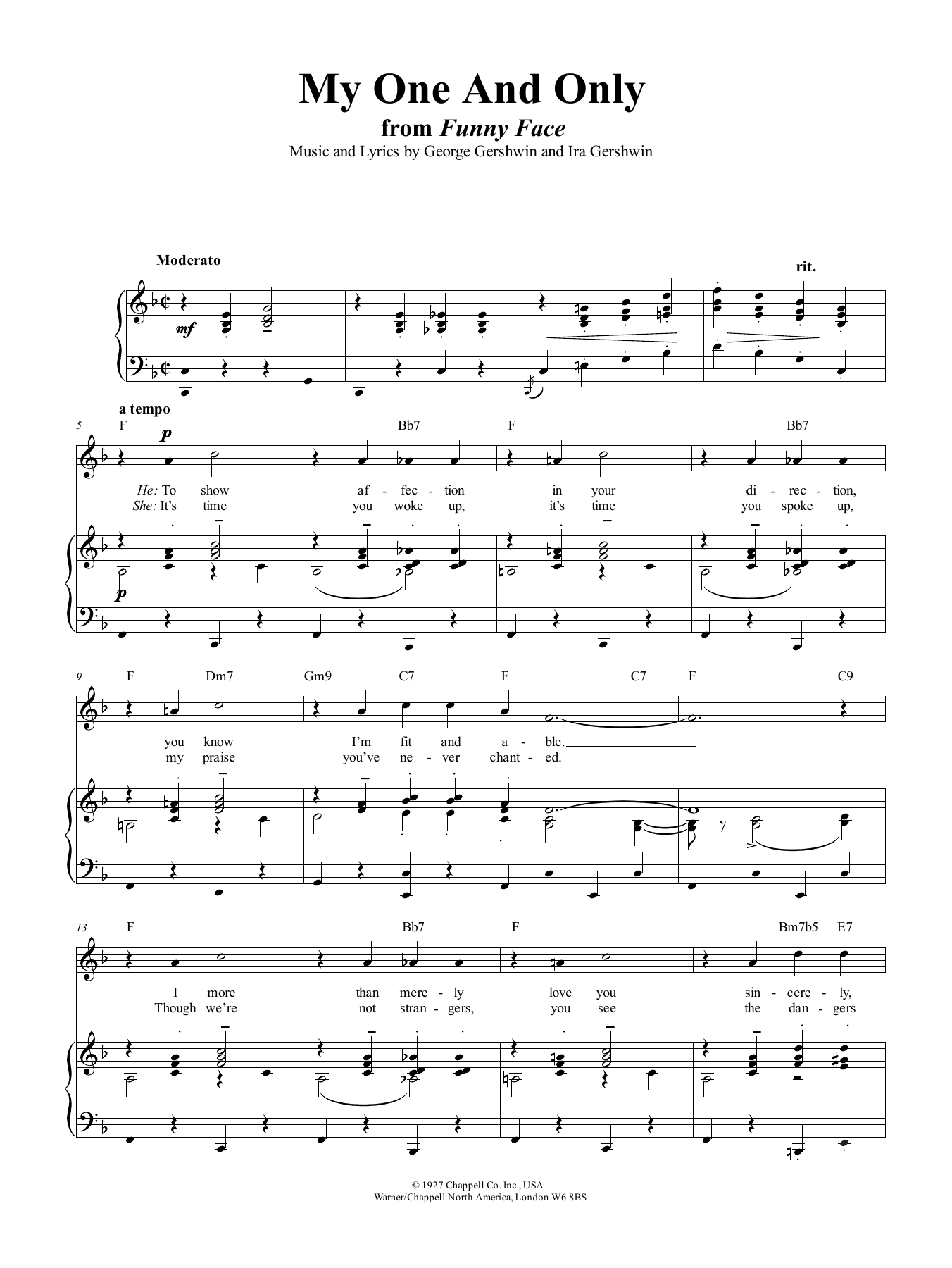 My One And Only Sheet Music