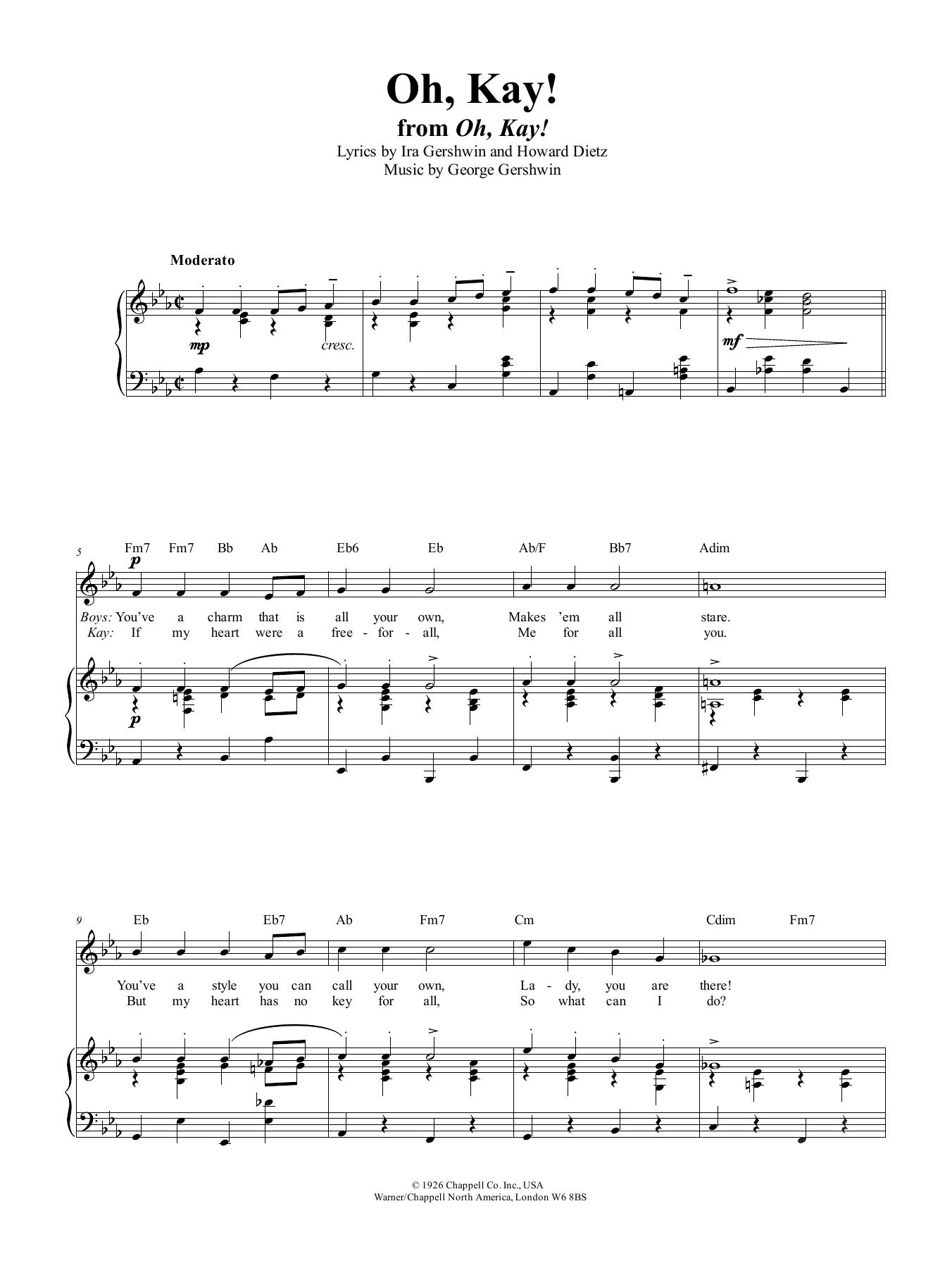 Oh, Kay (Piano, Vocal & Guitar (Right-Hand Melody))