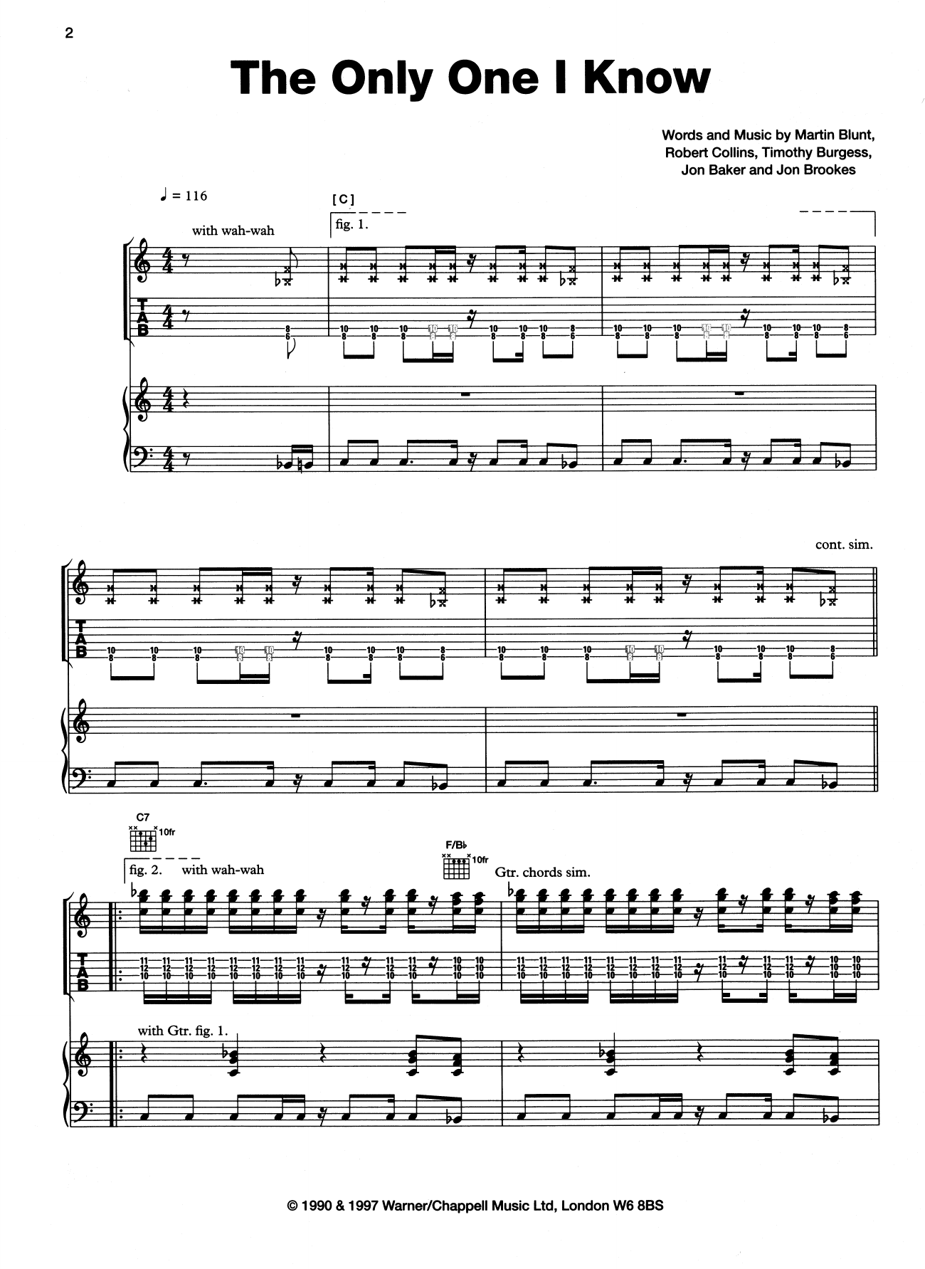 The Only One I Know Sheet Music