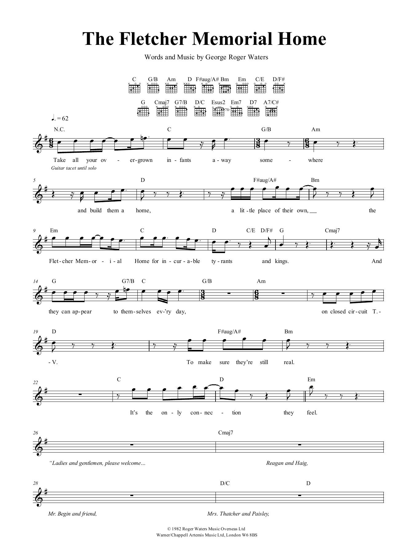 The Fletcher Memorial Home Sheet Music
