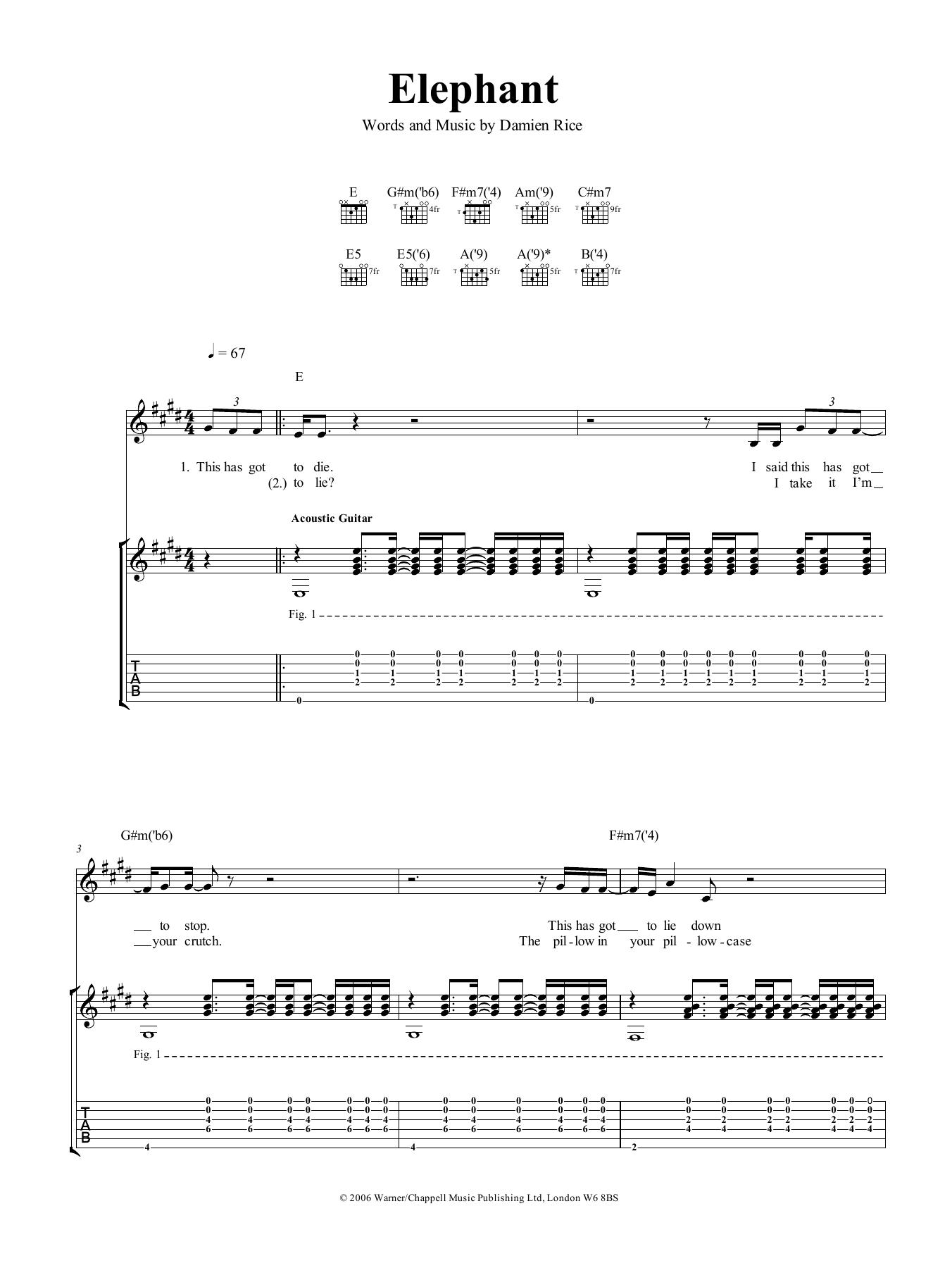 Elephant Sheet Music