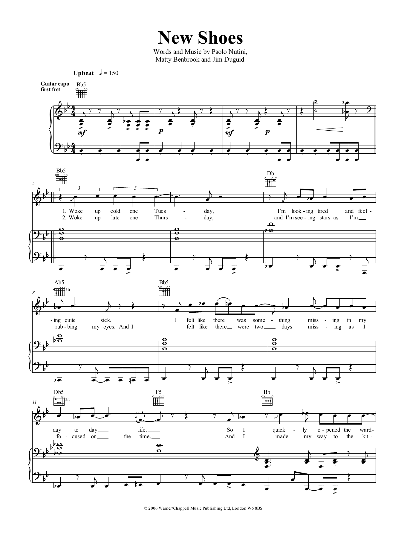 New Shoes Sheet Music