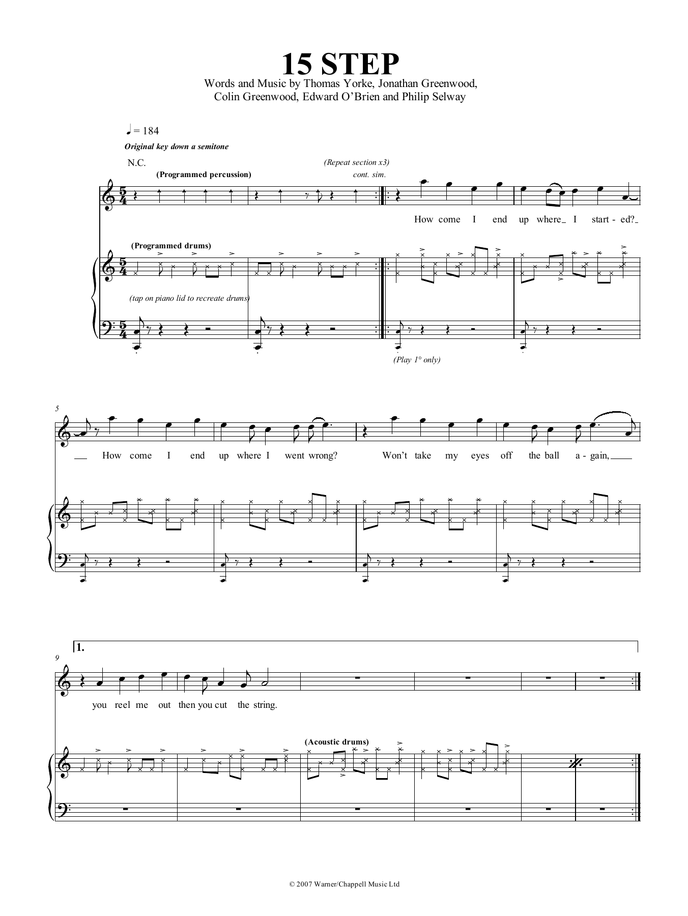 15 Step Sheet Music