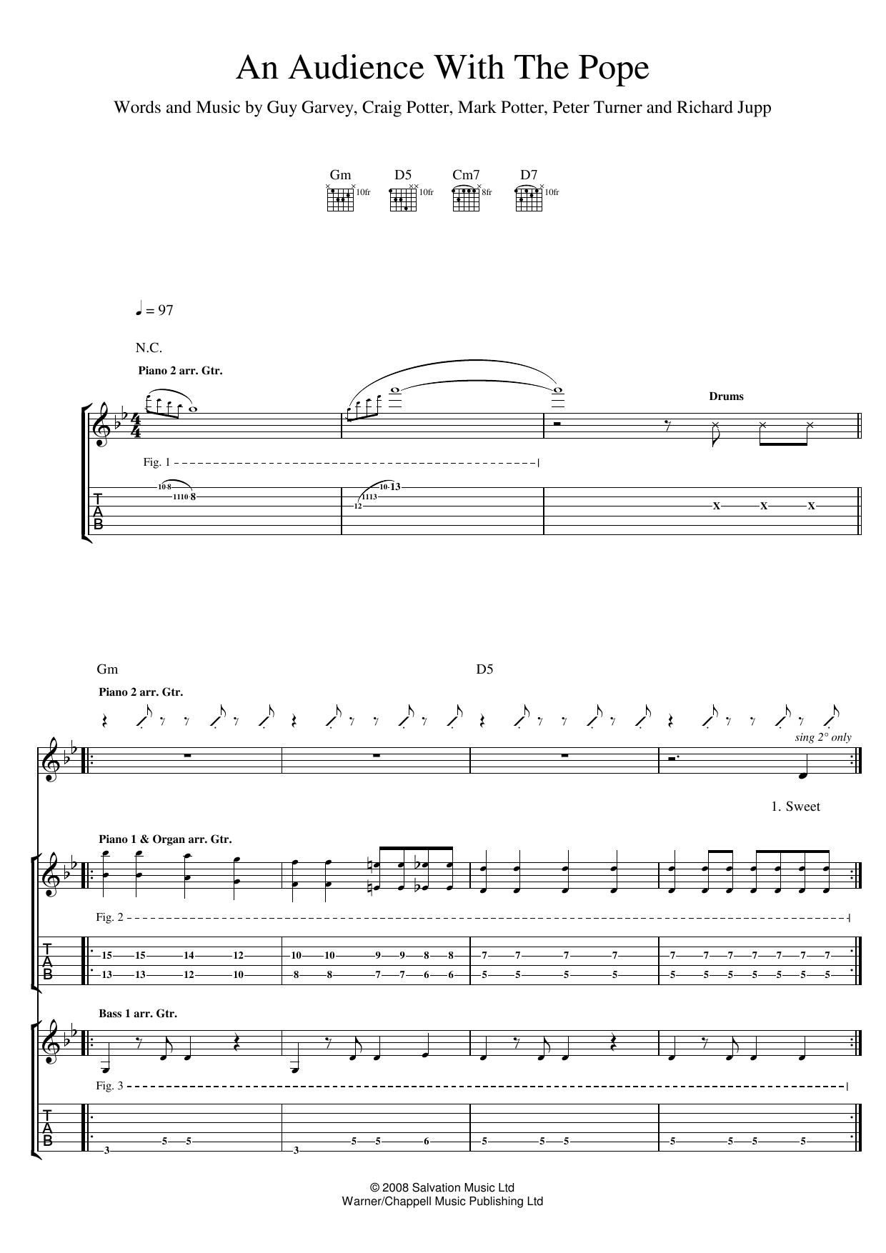 An Audience With The Pope (Guitar Tab)