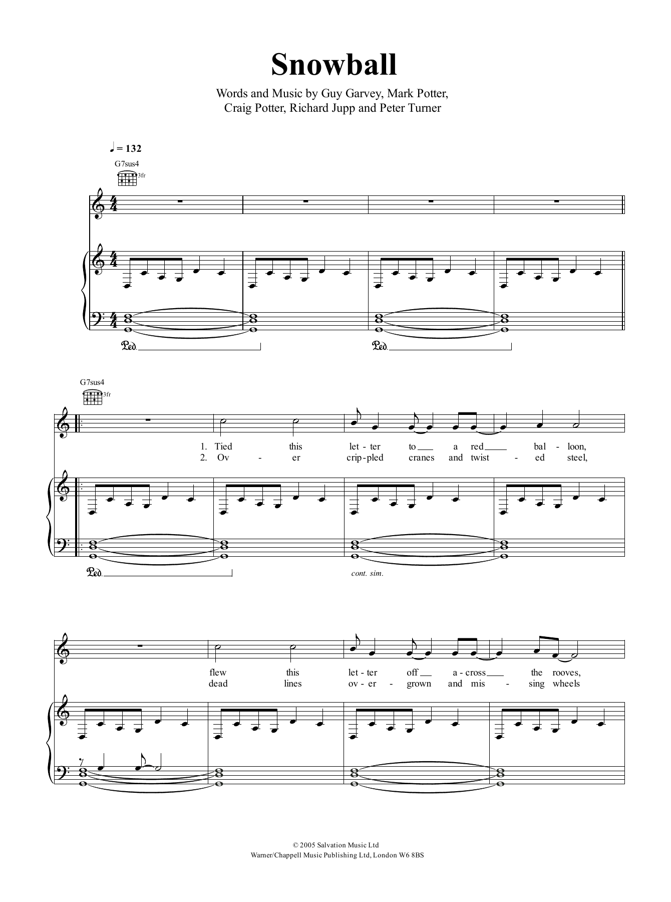 Snowball Sheet Music