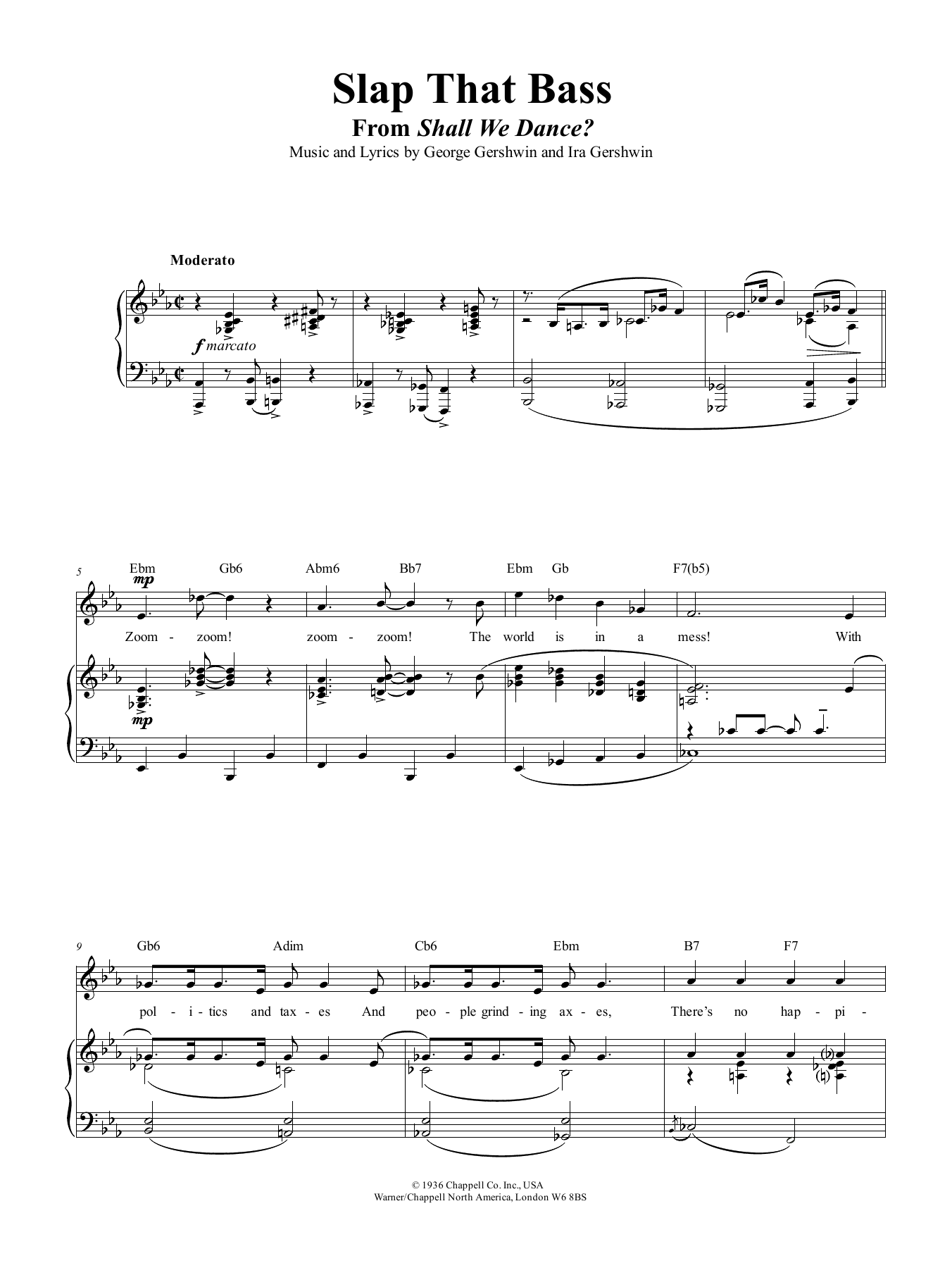 Slap That Bass Sheet Music