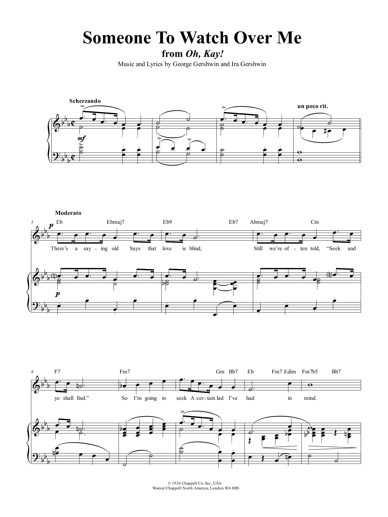 Someone To Watch Over Me (from Oh, Kay!) Sheet Music