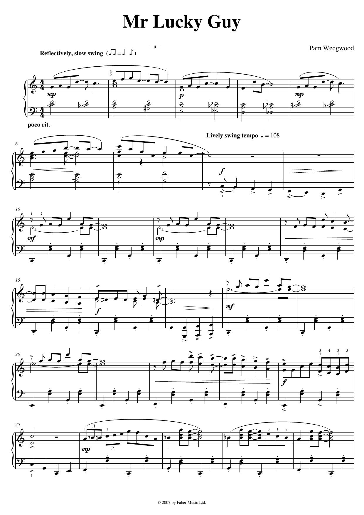 Mr. Lucky Guy Sheet Music