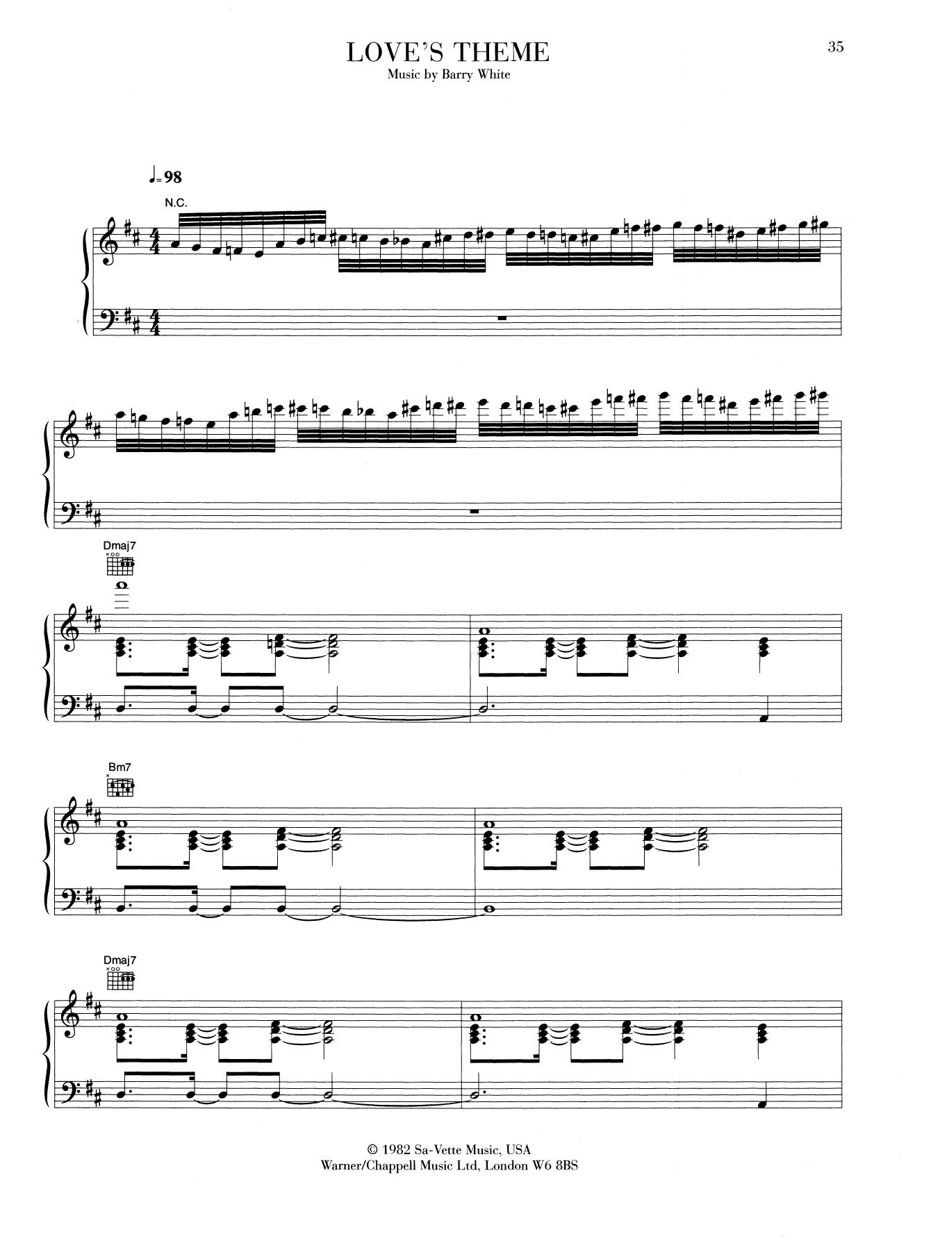 Love's Theme Sheet Music