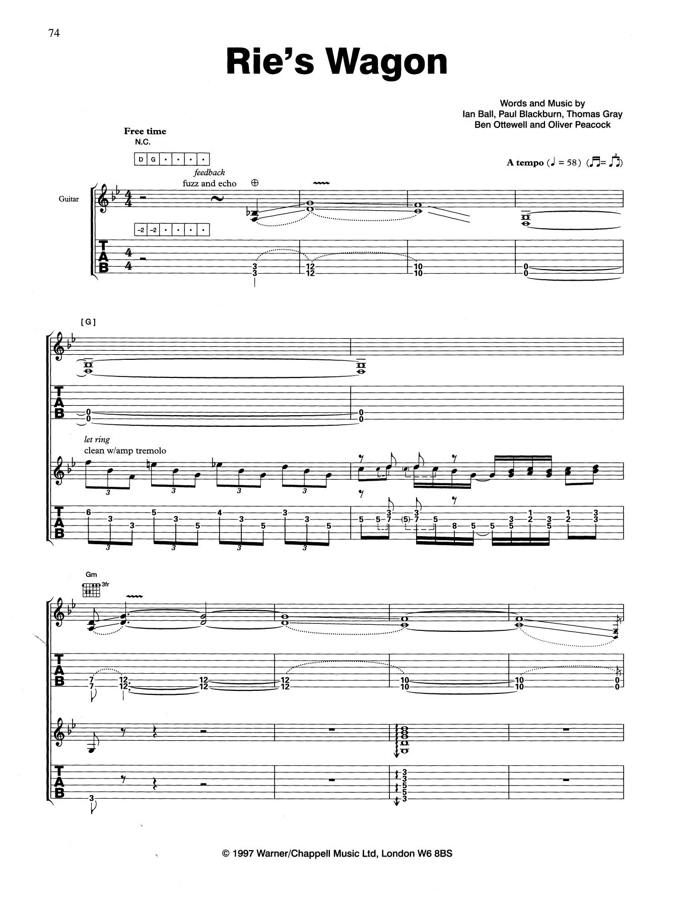 Rie's Wagon Sheet Music