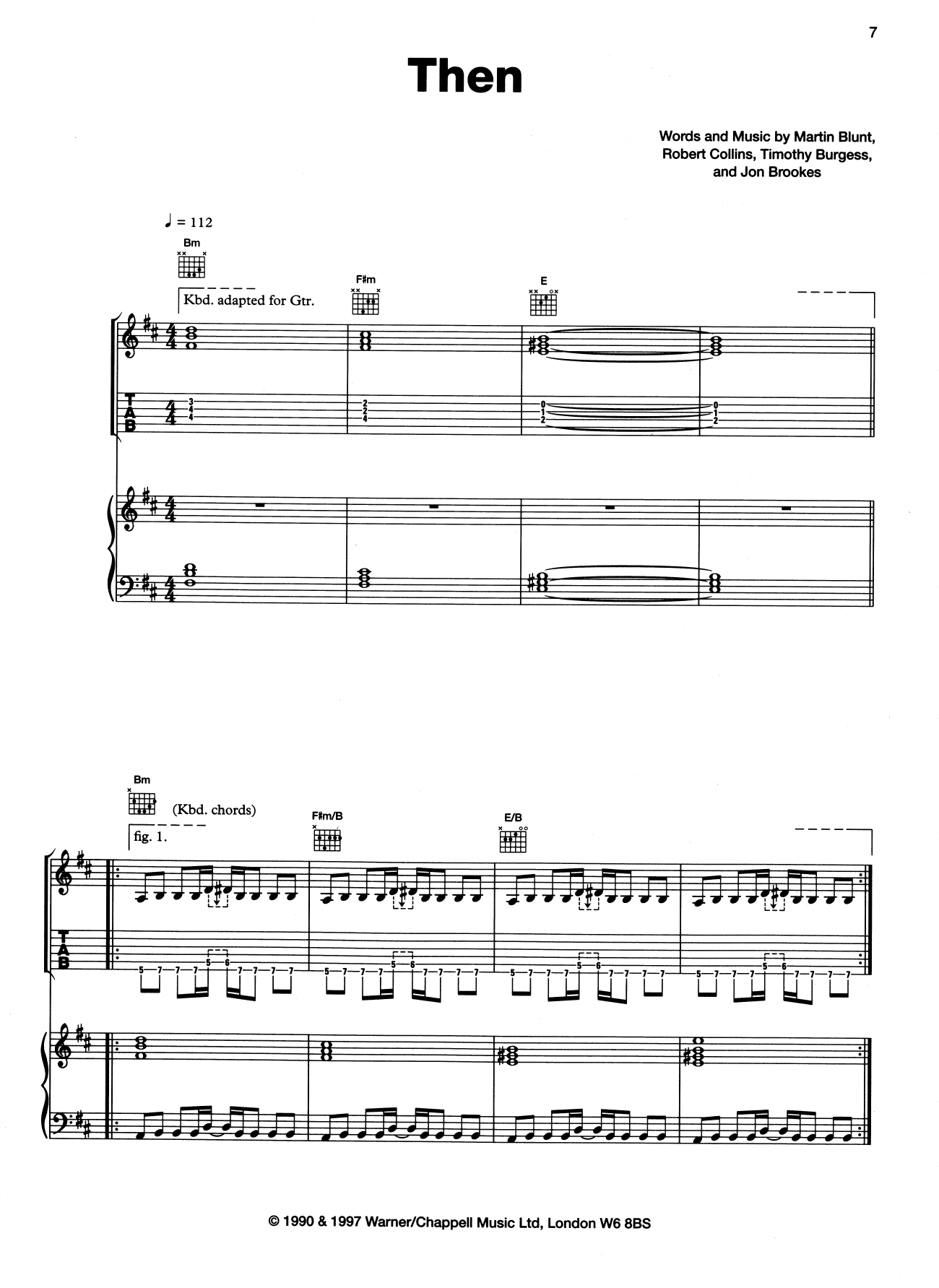 Then (Piano, Vocal & Guitar (Right-Hand Melody))