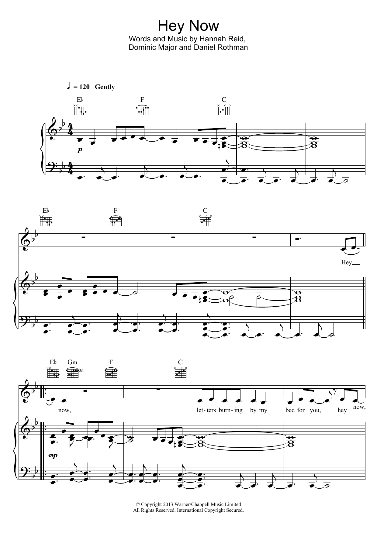 Hey Now Sheet Music