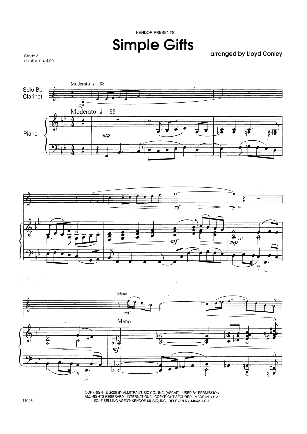 Simple Gifts - Piano Sheet Music