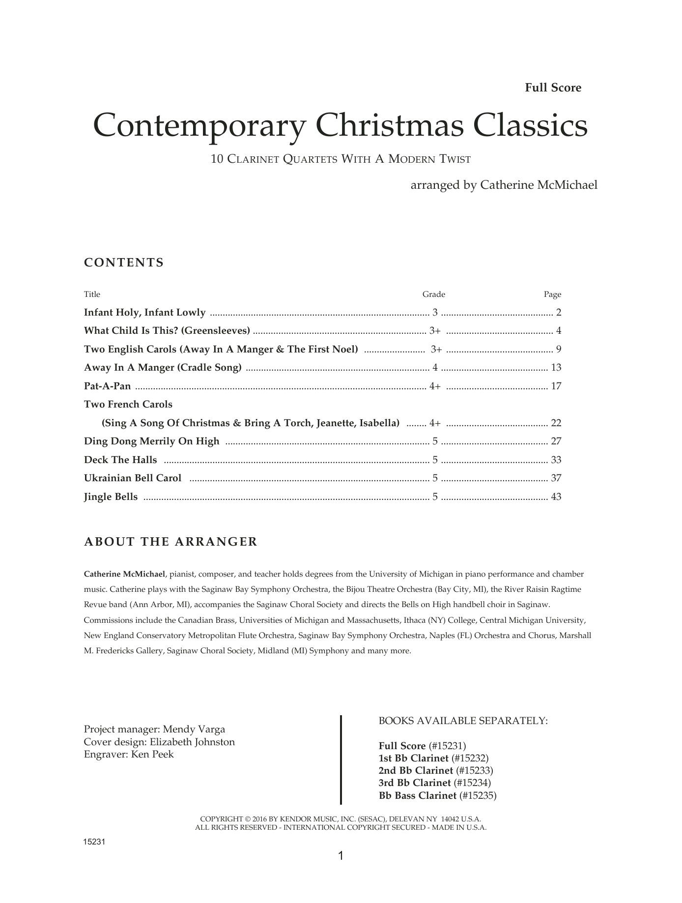 Contemporary Christmas Classics - Full Score Sheet Music