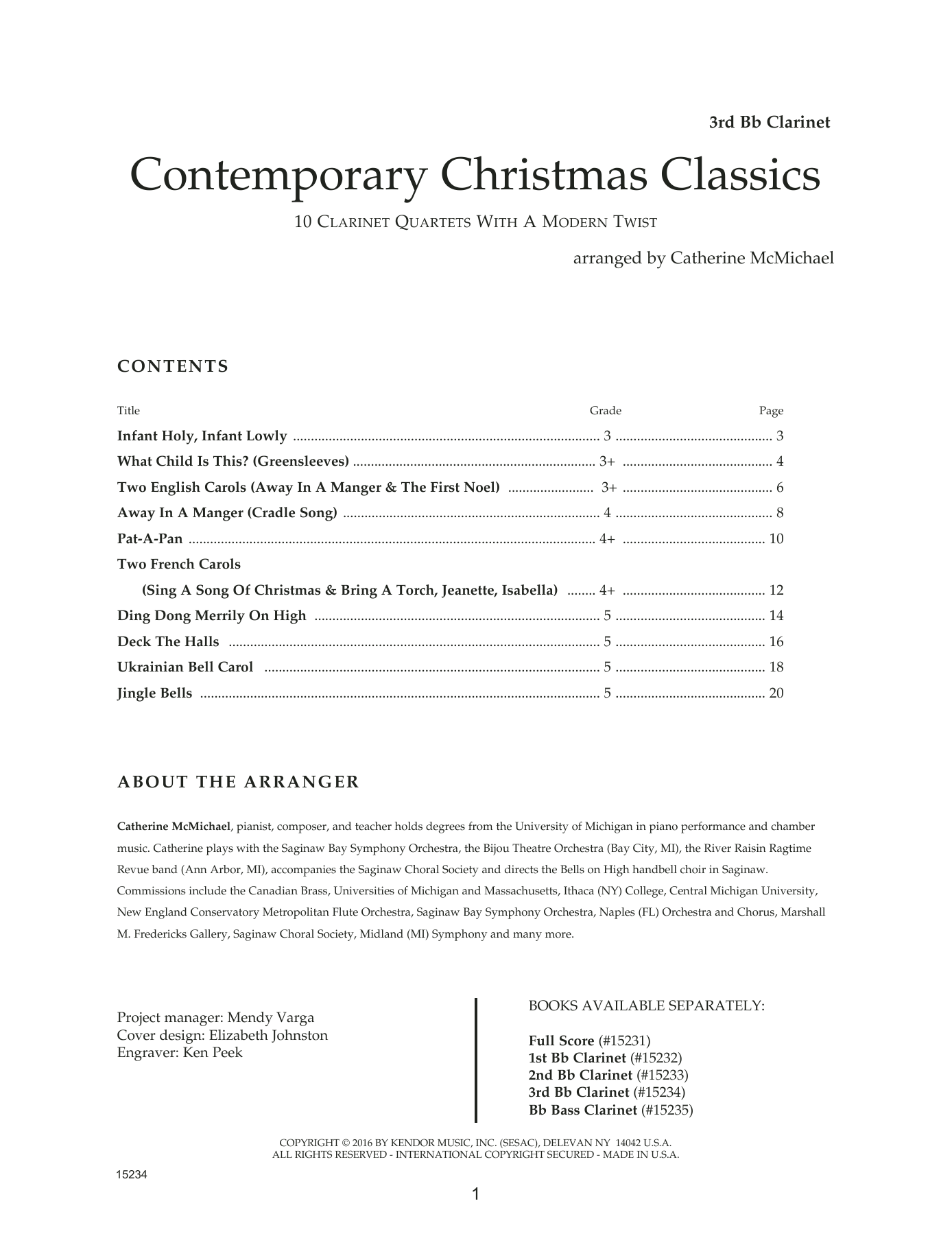 Contemporary Christmas Classics - 3rd Bb Clarinet Partition Digitale