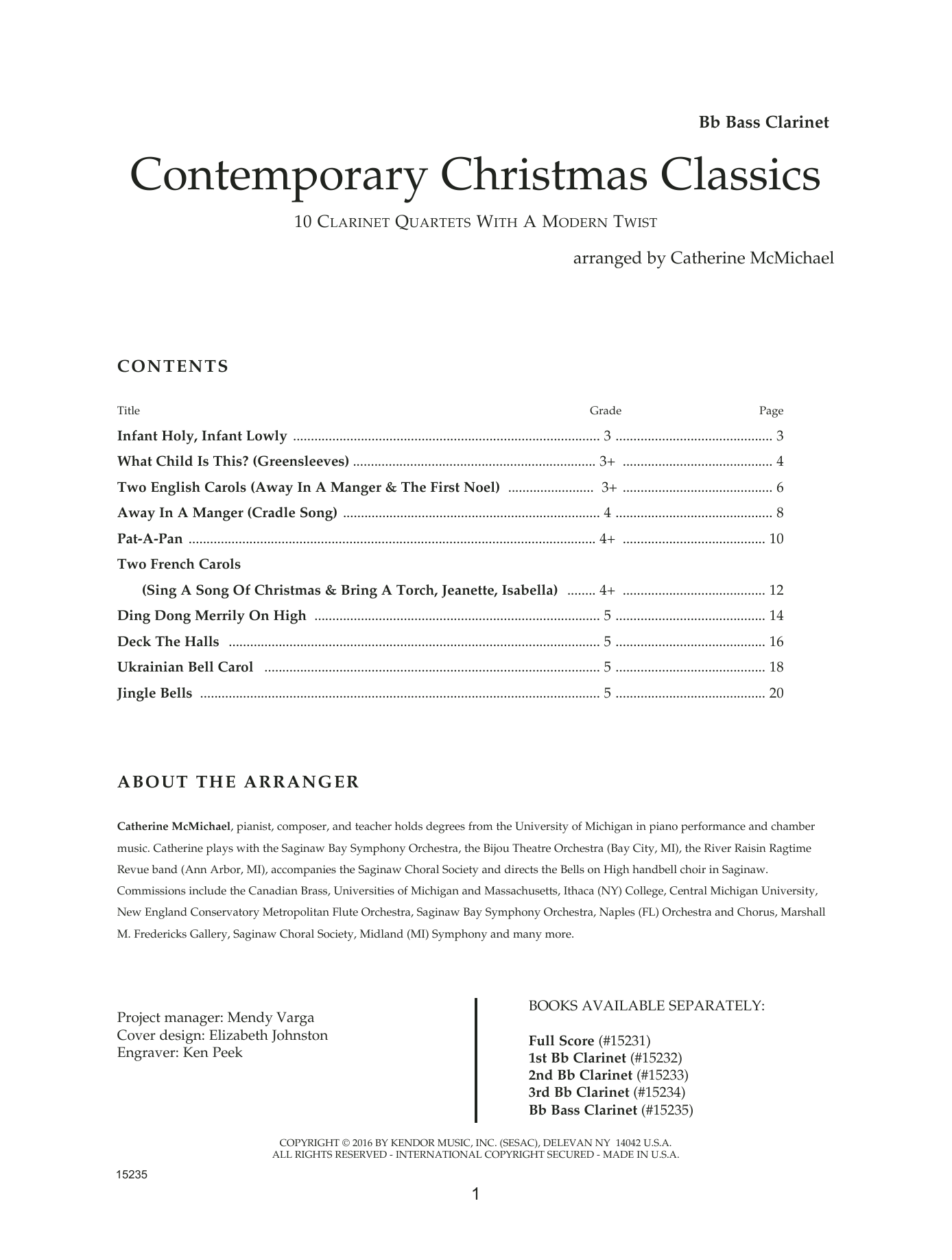 Contemporary Christmas Classics - Bb Bass Clarinet Sheet Music